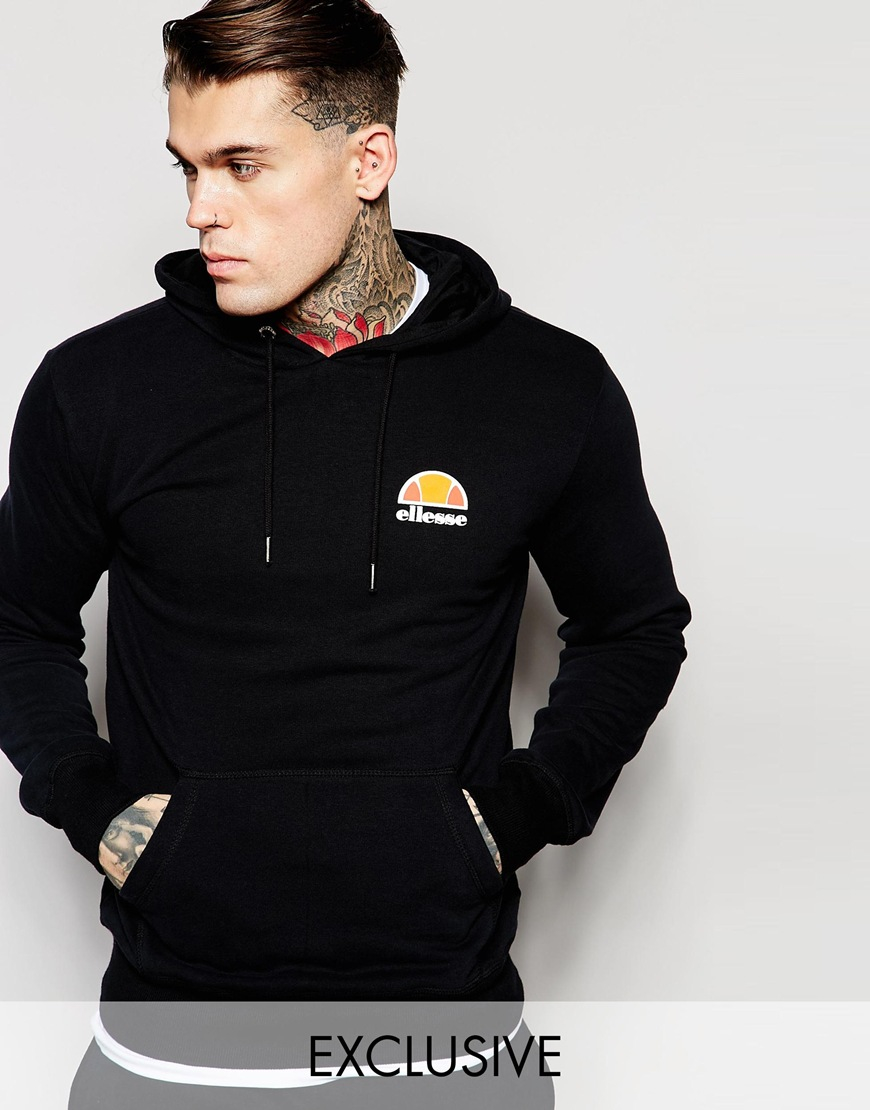 f5228fdc24 Ellesse Black Hoodie With Small Logo for men