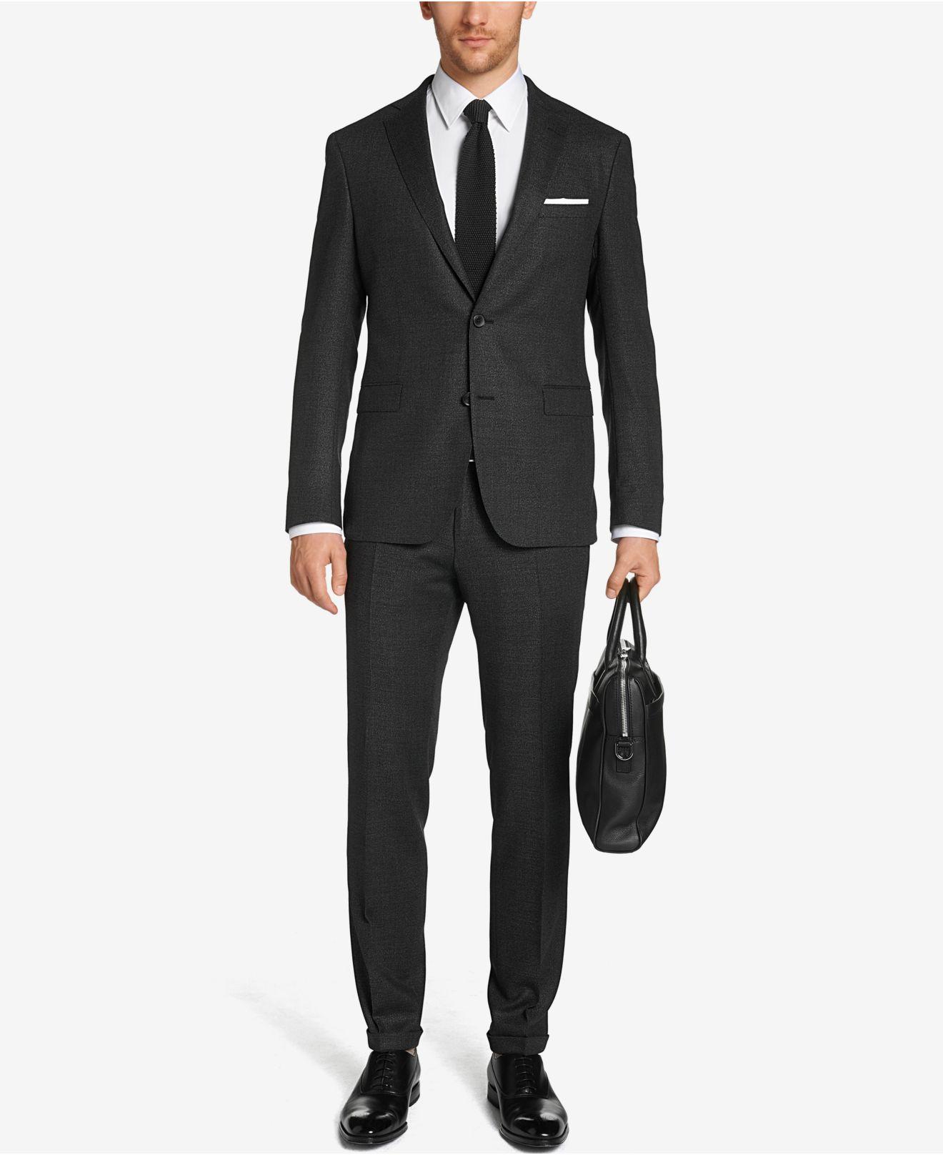 lyst boss boss extra slim fit stretch virgin wool suit. Black Bedroom Furniture Sets. Home Design Ideas