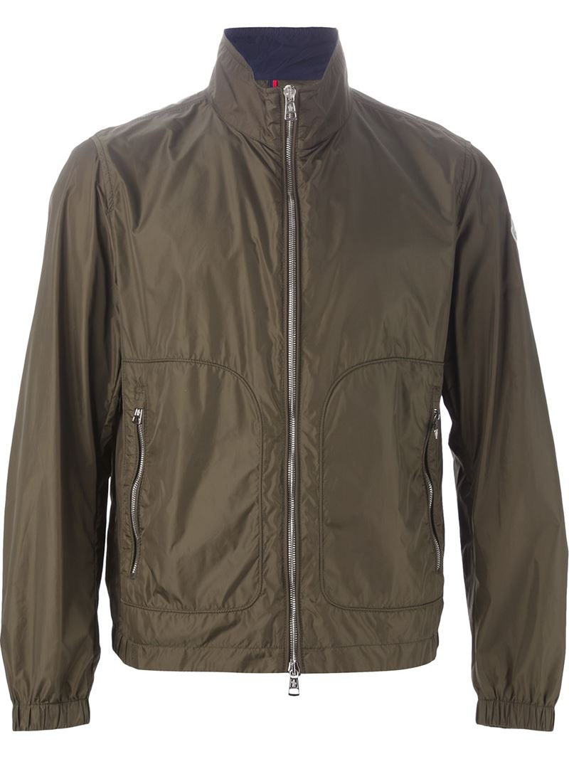 Moncler 'renoir' Windbreaker Jacket in Green for Men