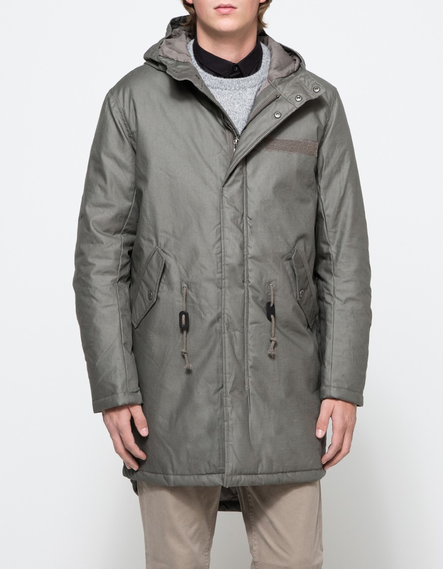 Cheap monday Cage Parka in Gray for Men | Lyst