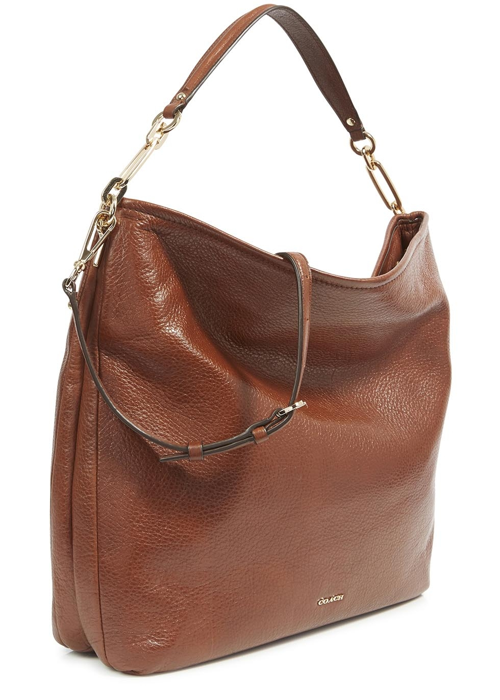 Coach Madison Brown Grained Leather Hobo Bag Lyst