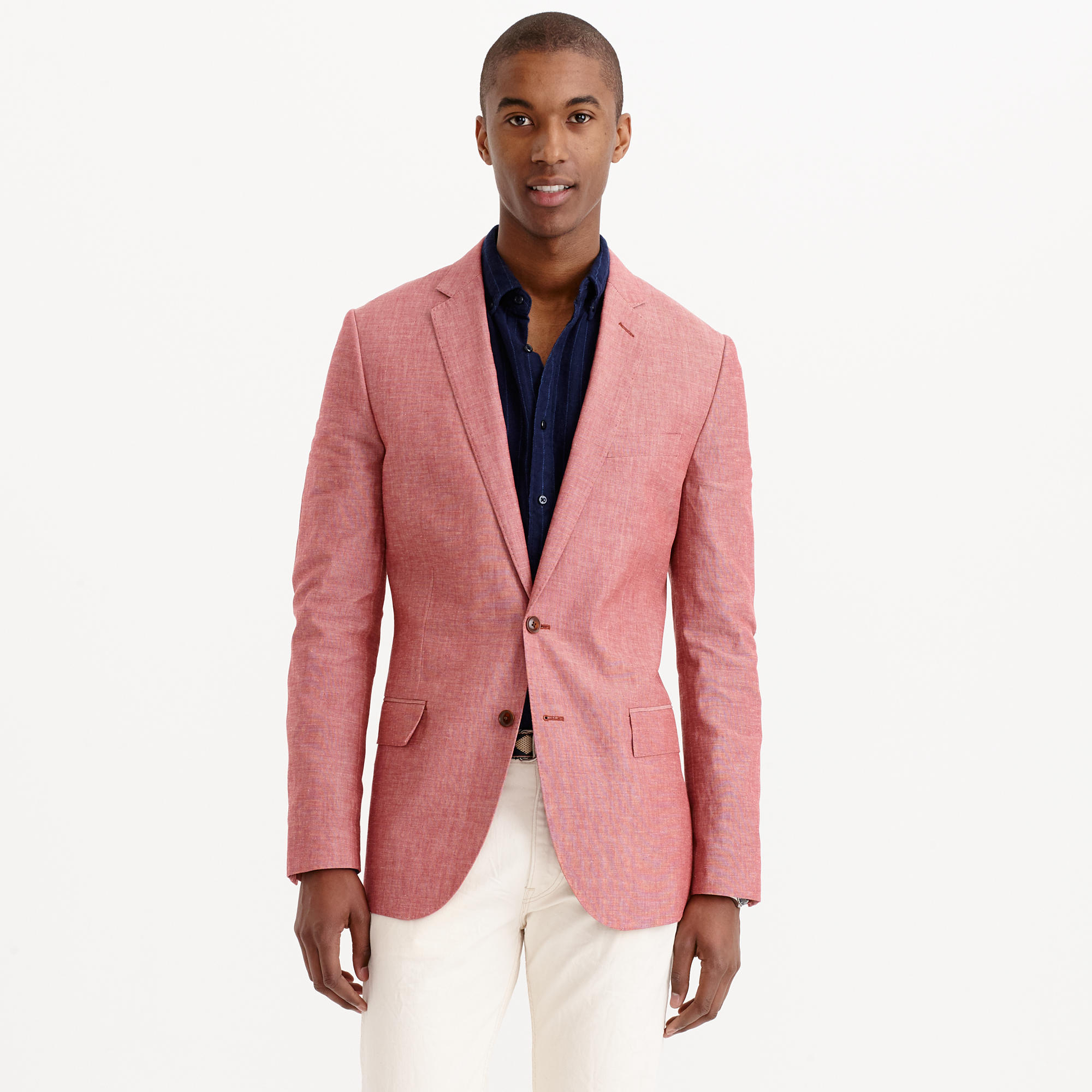 J.crew Ludlow Sportcoat In Japanese Chambray in Pink for Men | Lyst