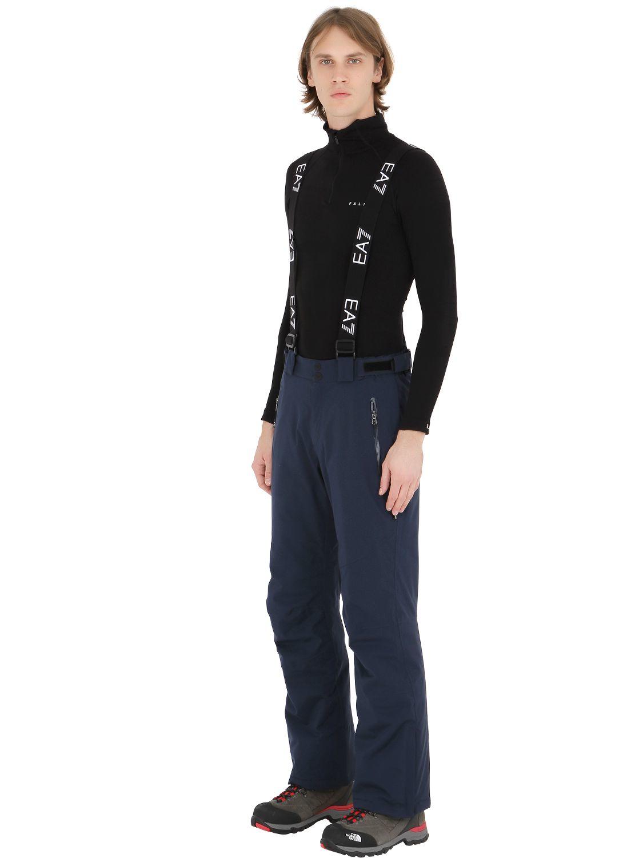 9f76a20334 EA7 Blue Nylon Water Resistant Ski Pants for men