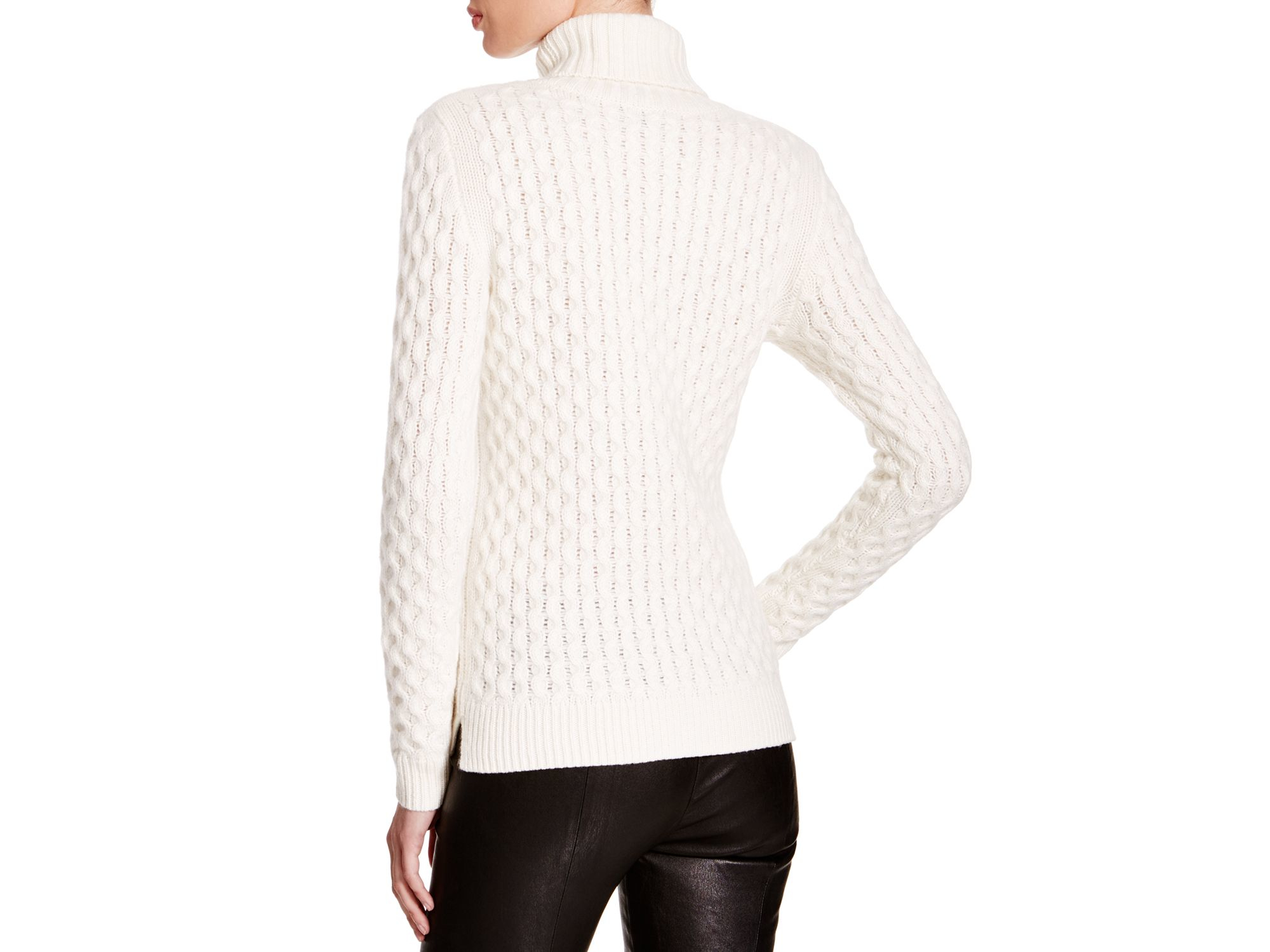 Winter White Cable Knit Sweaters 83
