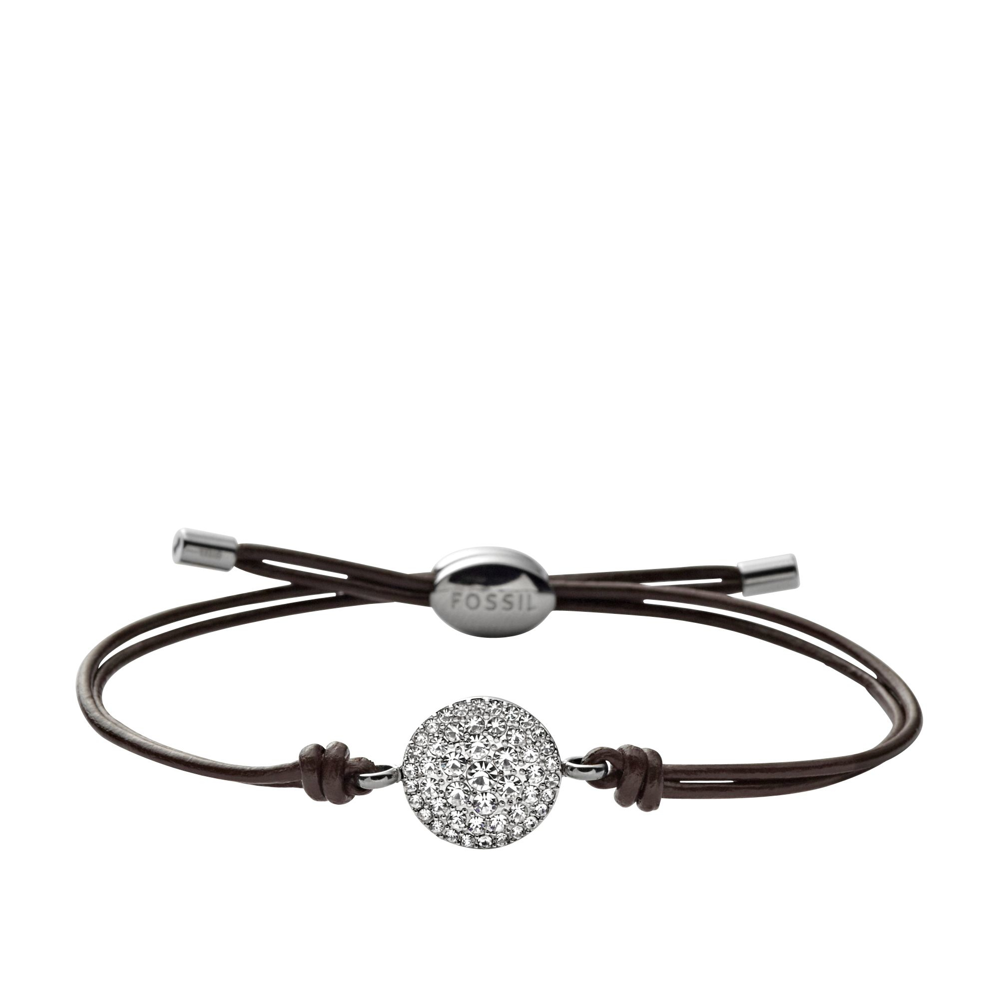 fossil jf00117040 ladies iconic leather bracelet in brown lyst. Black Bedroom Furniture Sets. Home Design Ideas