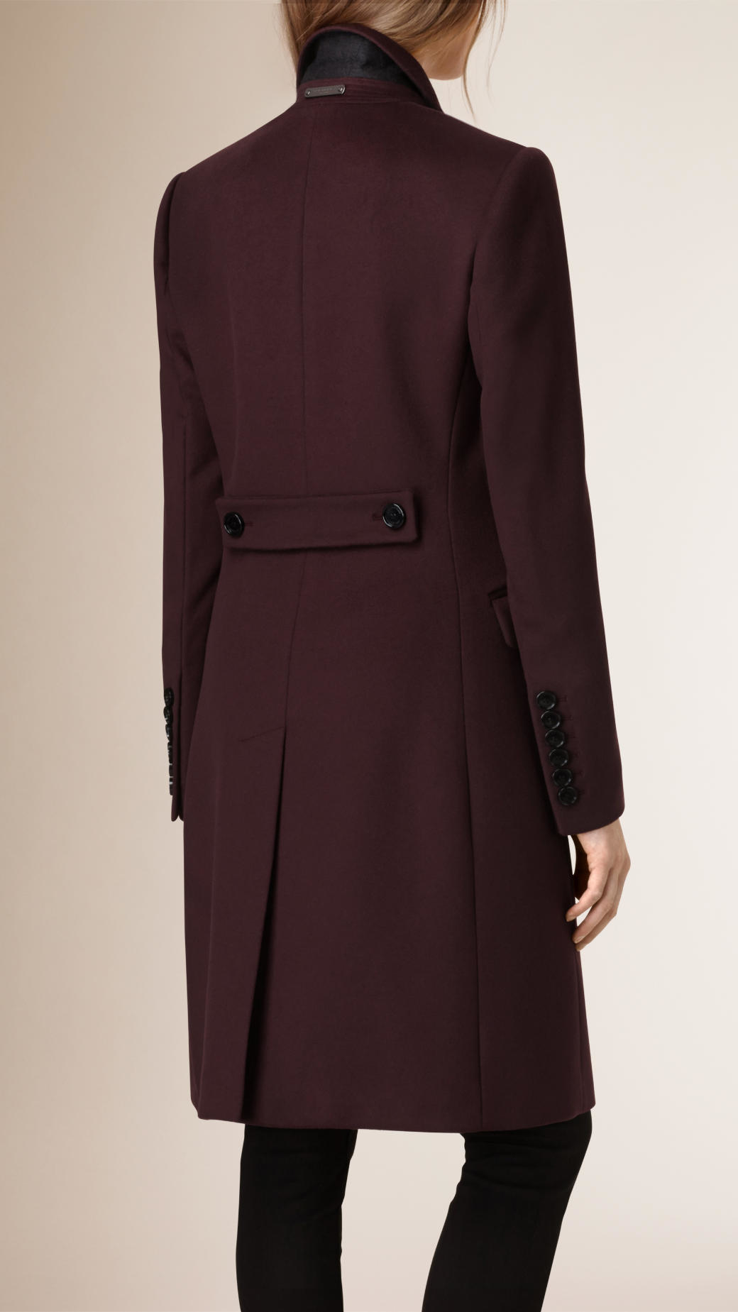 Burberry Wool Cashmere Tailored Coat In Purple Lyst