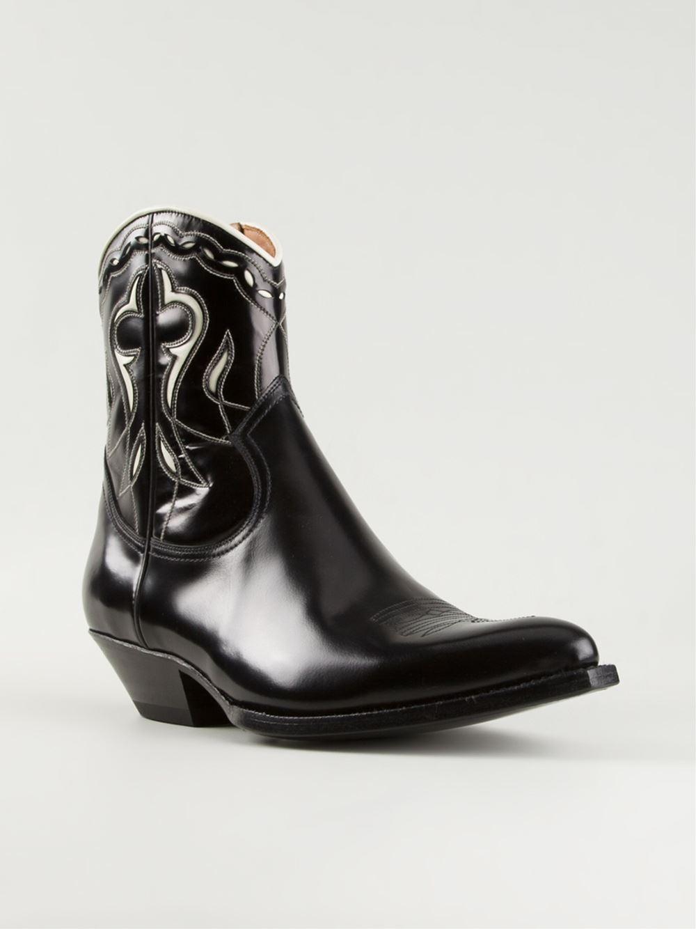 Saint Laurent Santiag Western Boots In Black For Men Lyst