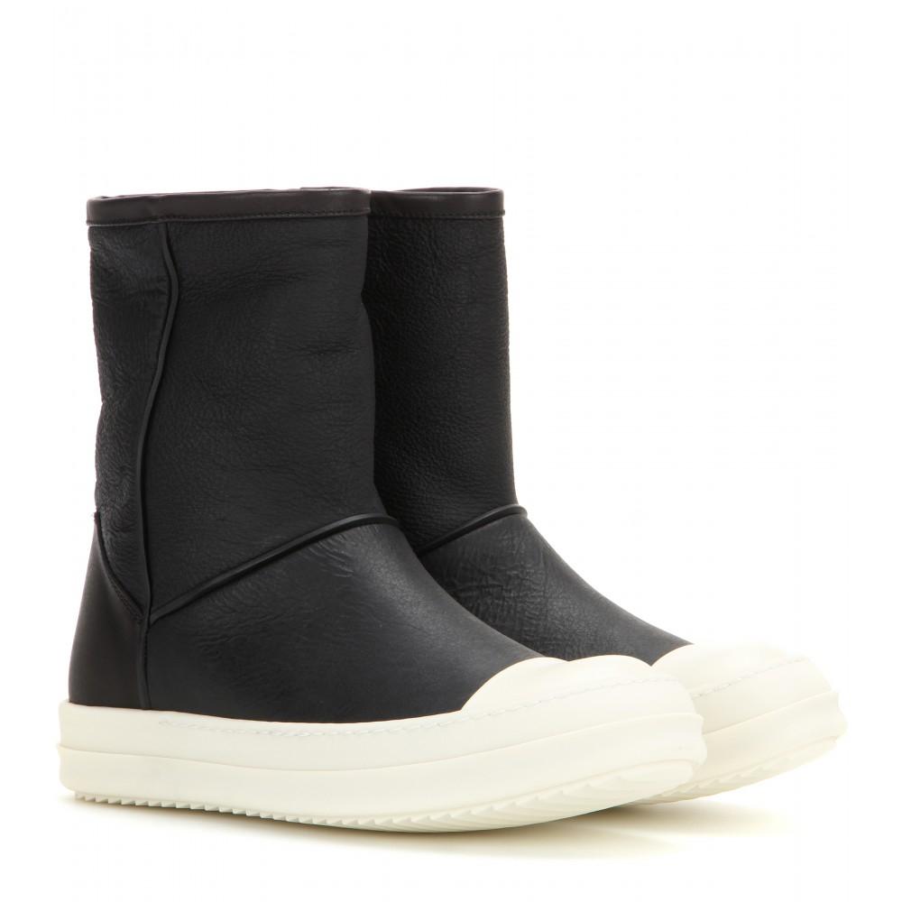 Leather boots Rick Owens iuj4ntz0m