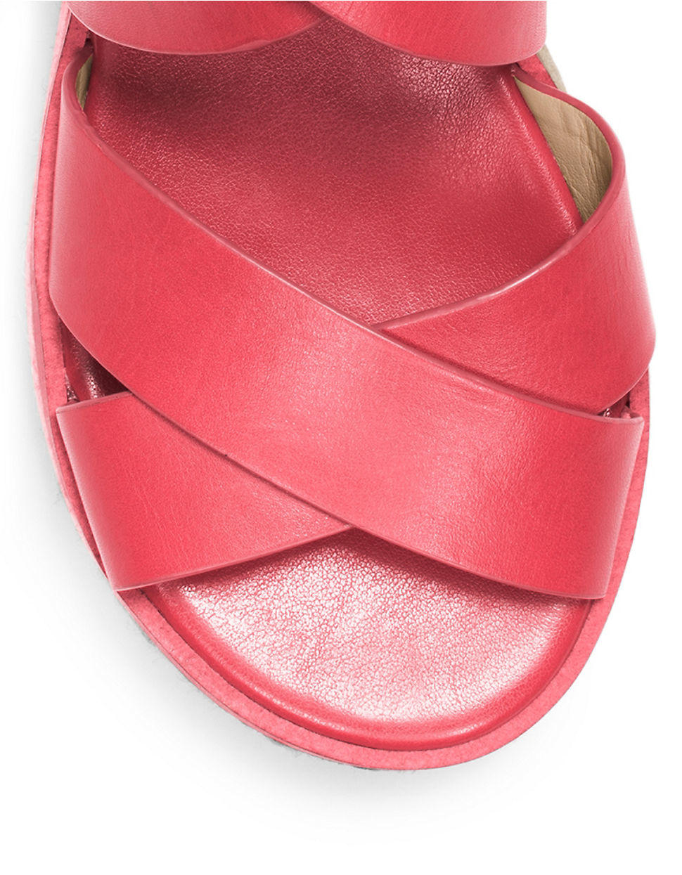 Michael Michael Kors Darby Leather Sandals In Red Lyst