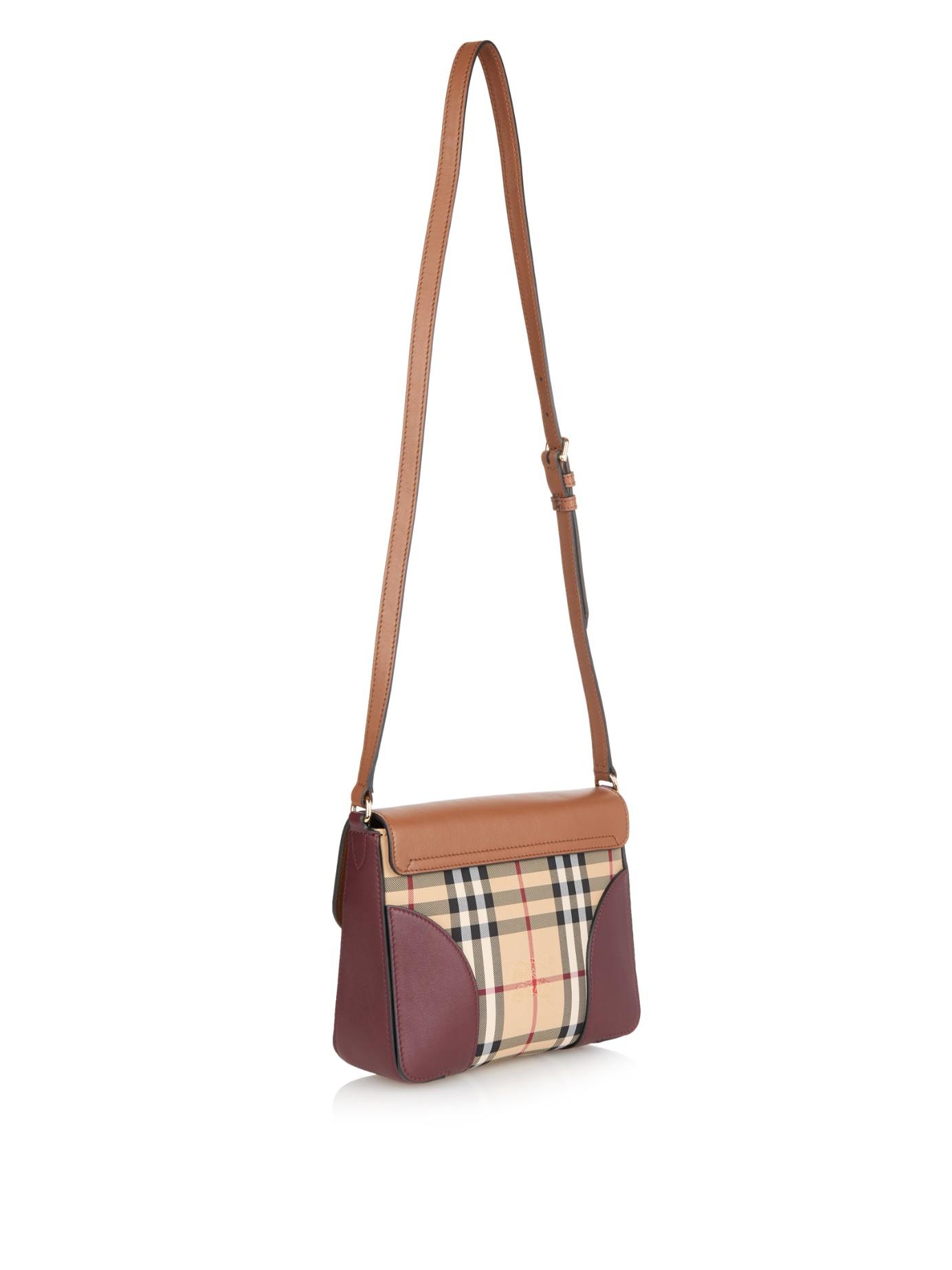 59d1239455e4 Lyst - Burberry Prorsum Dickens Leather Cross-body Bag in Purple