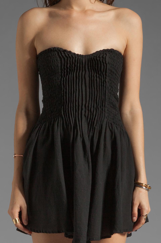 bdbe6296fd5f Indah Wren Strapless Pleated Mini Dress in Black - Lyst