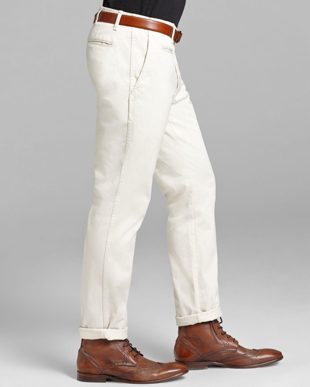 Mens White Khaki Pants - Jon Jean