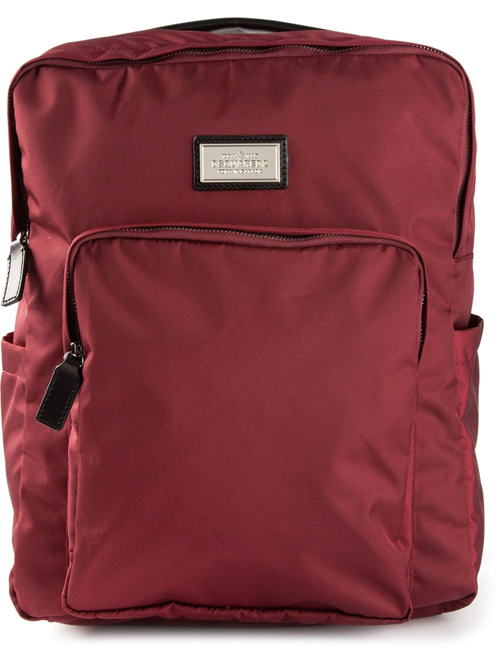 dsquared178 square shape backpack in red for men lyst