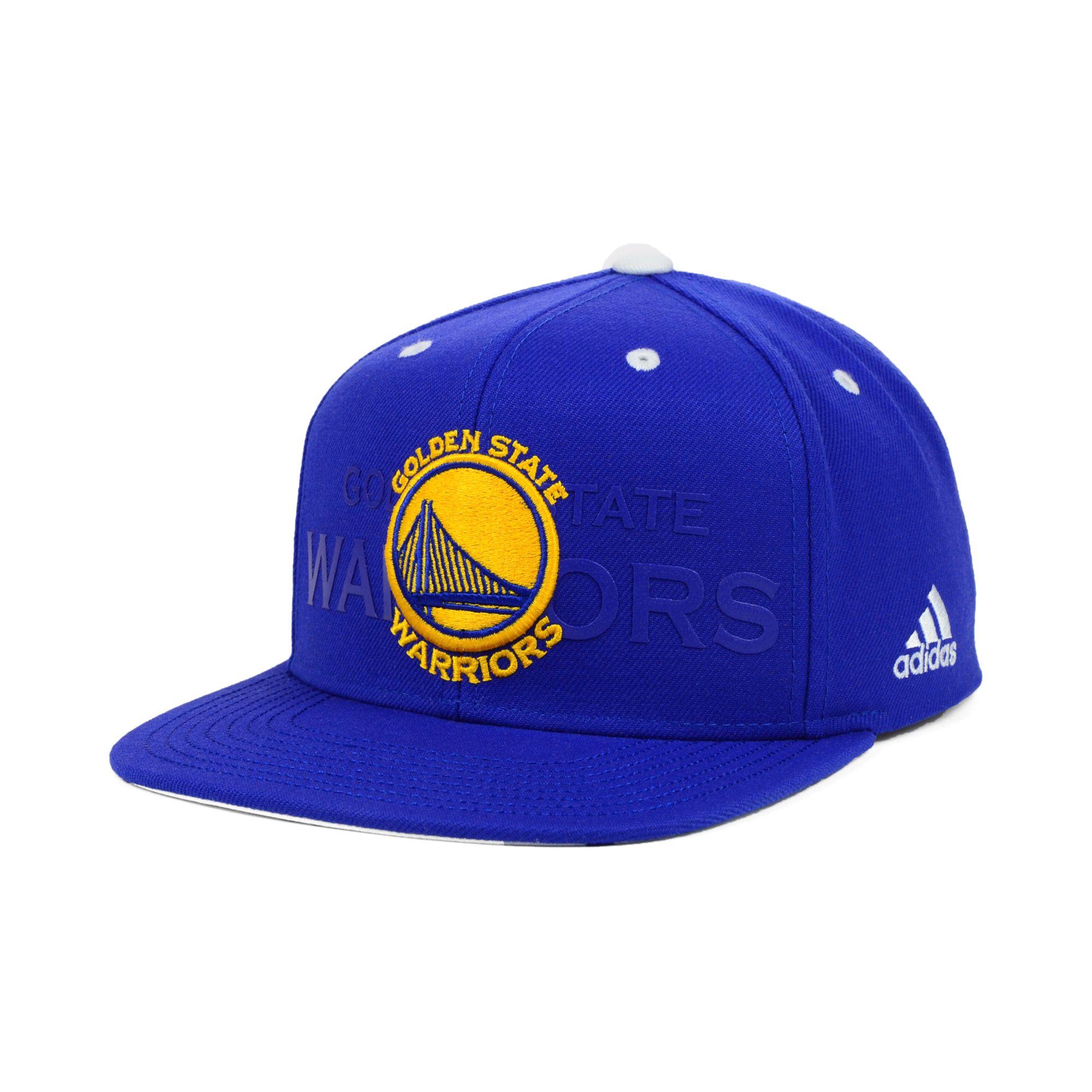 new arrival 8dfc1 c6cb3 ... sweden lyst adidas golden state warriors nba draft snapback cap in blue  45d38 88bb8
