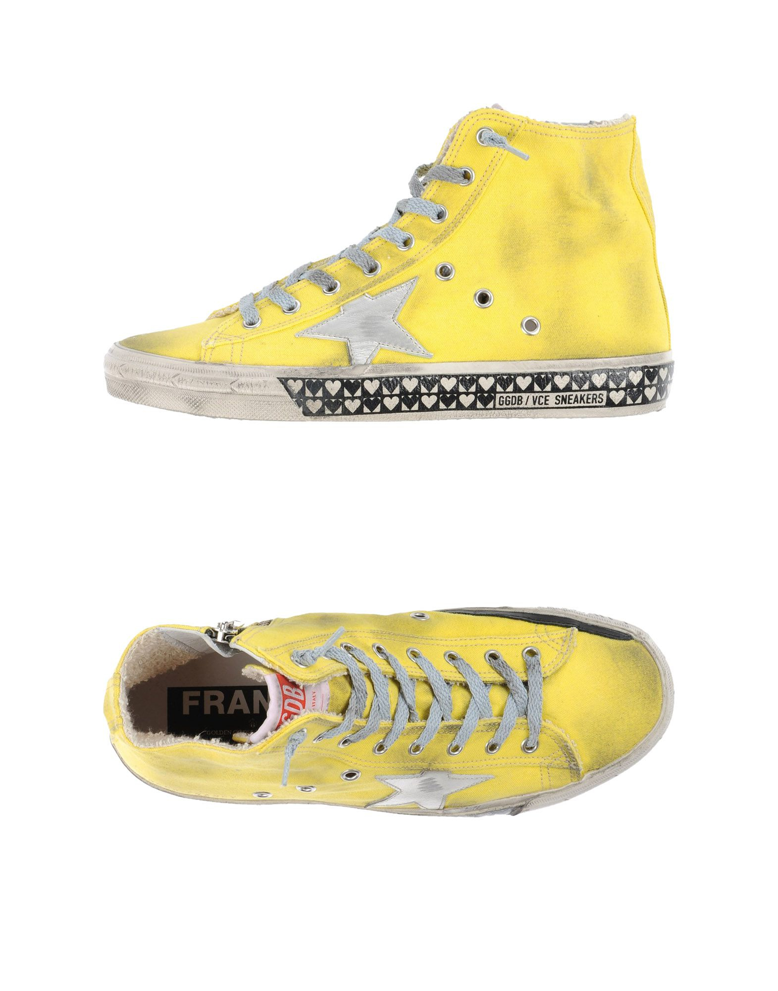 golden goose deluxe brand high tops trainers in yellow lyst. Black Bedroom Furniture Sets. Home Design Ideas