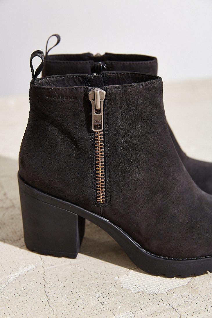 61ceadaa56dfe4 Lyst - Vagabond Nubuck Grace Double Zip Boot in Black