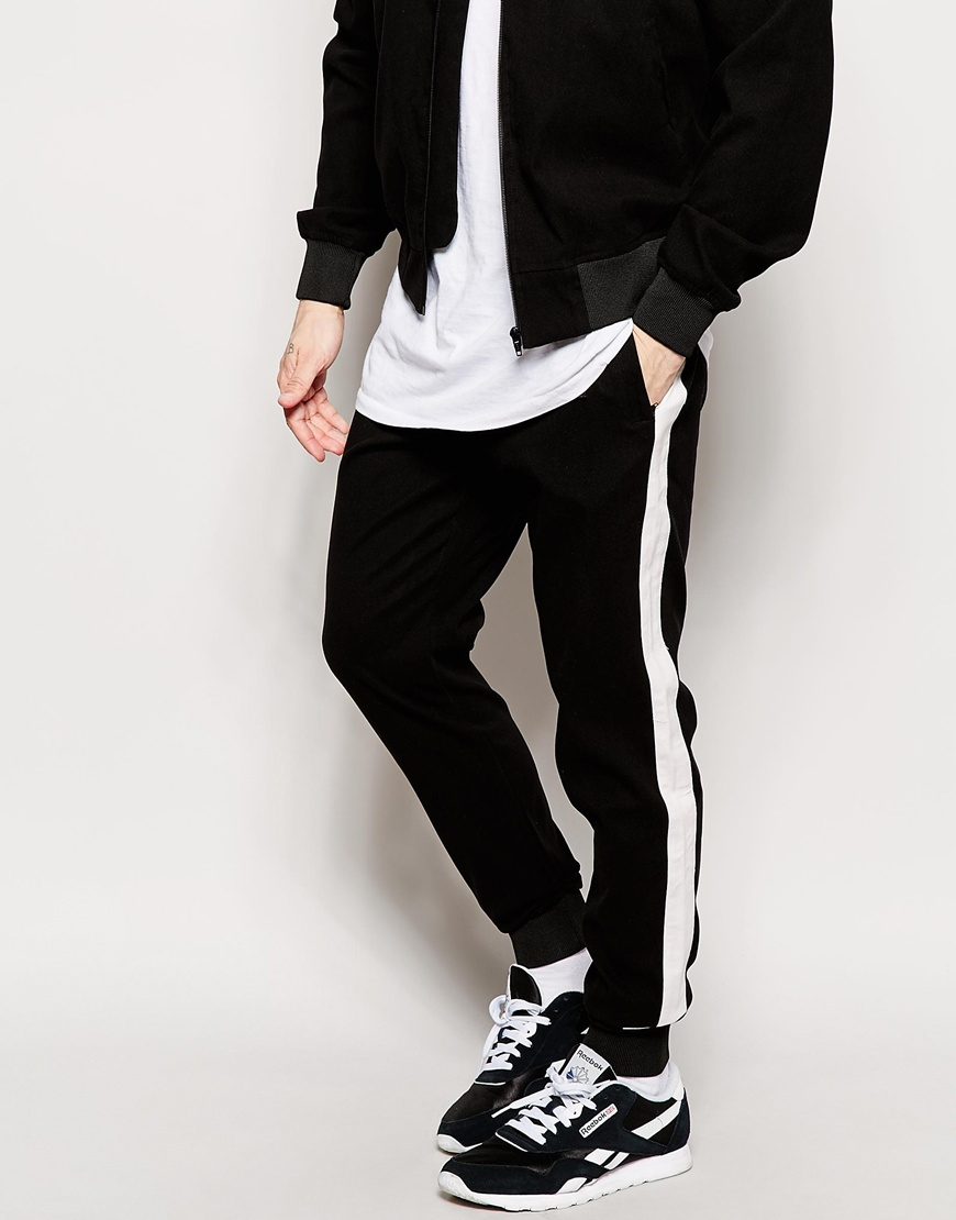 Lyst Nicce London Joggers With Side Stripe In Black For Men