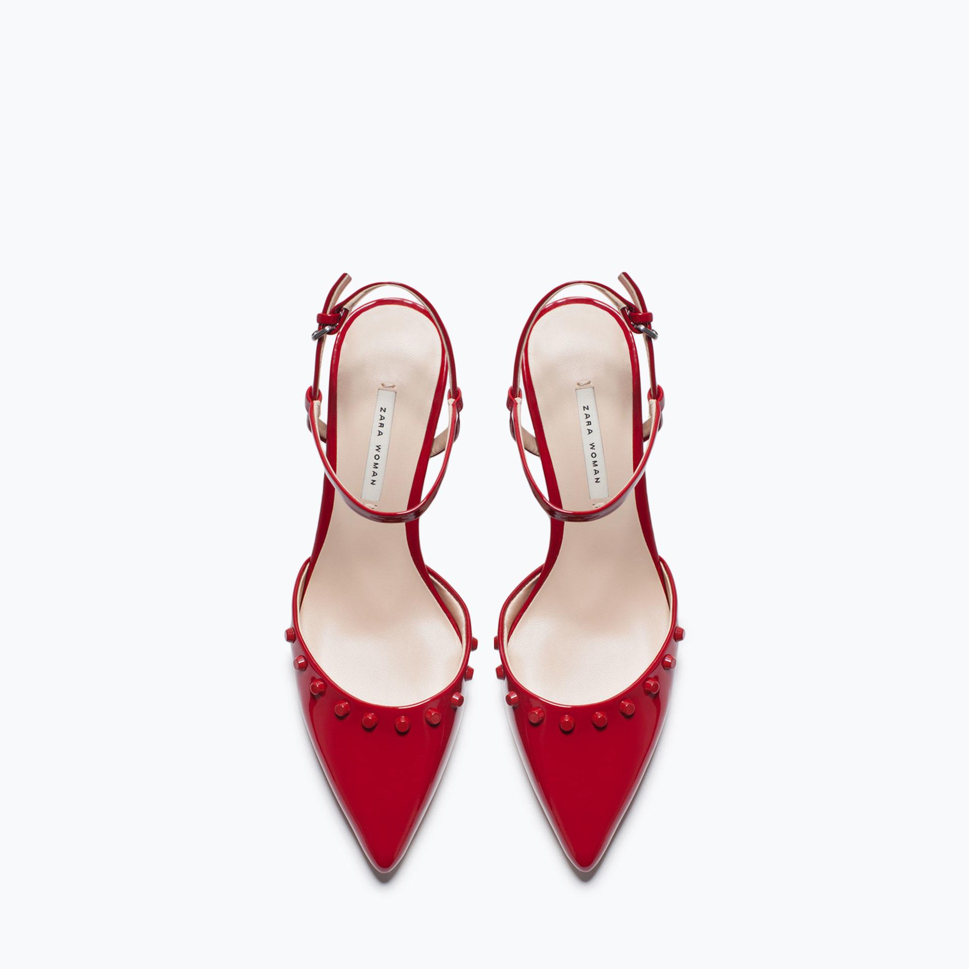 Zara Kitten Heel Studded Shoes