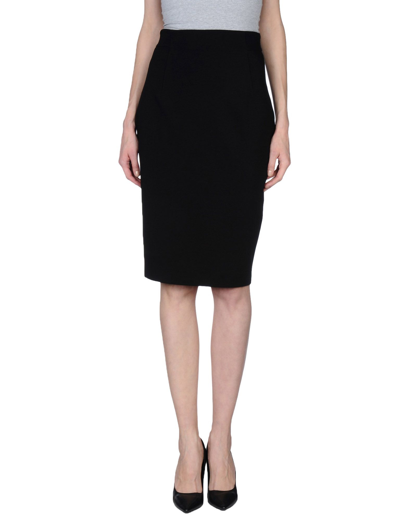 plein sud knee length skirt in black lyst