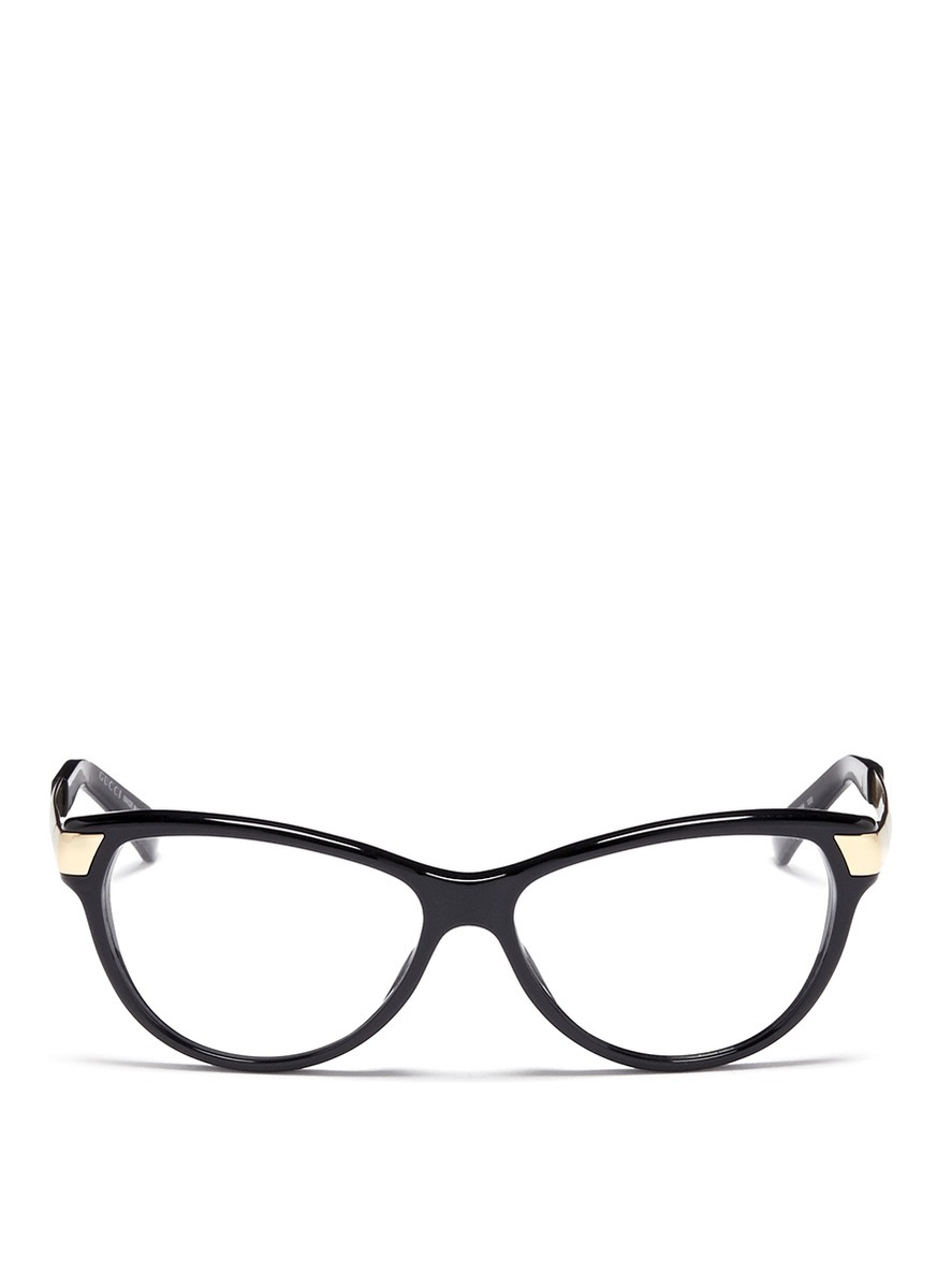 gucci cat eye optical glasses in pink lyst