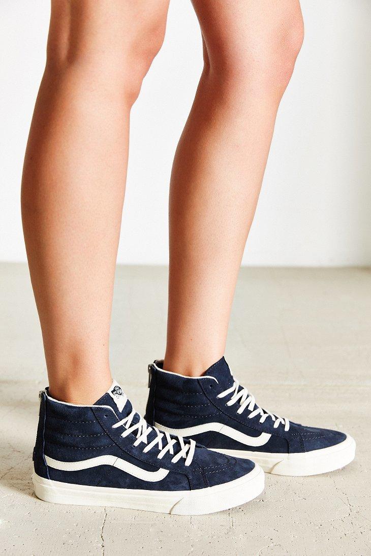 Lyst - Vans Sk8-hi Scotchgard Slim Sneaker in Blue 363178b72887