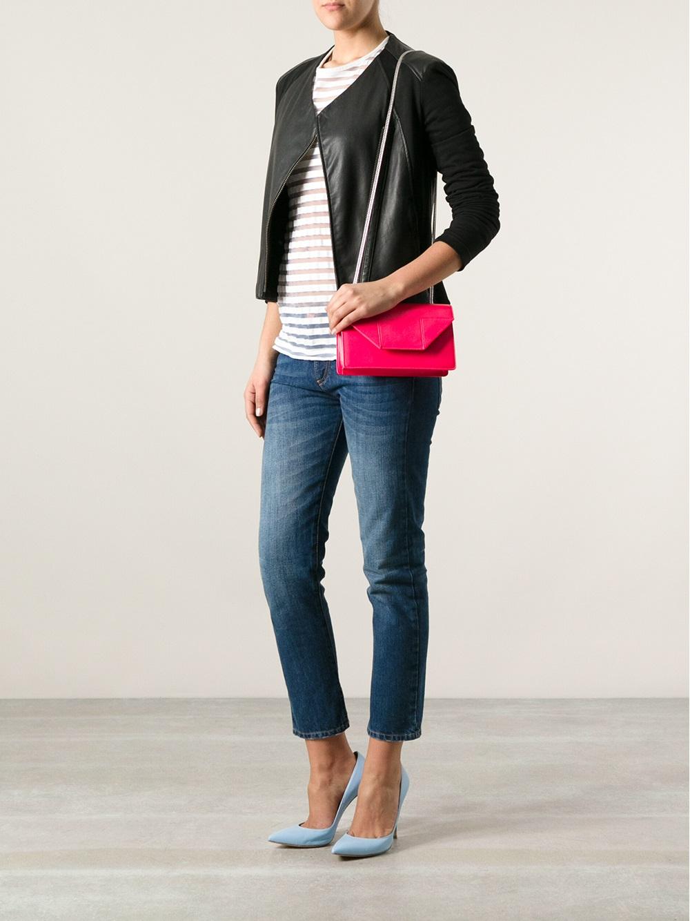 ded56428376 Saint Laurent Pink Classic Small Betty Bag