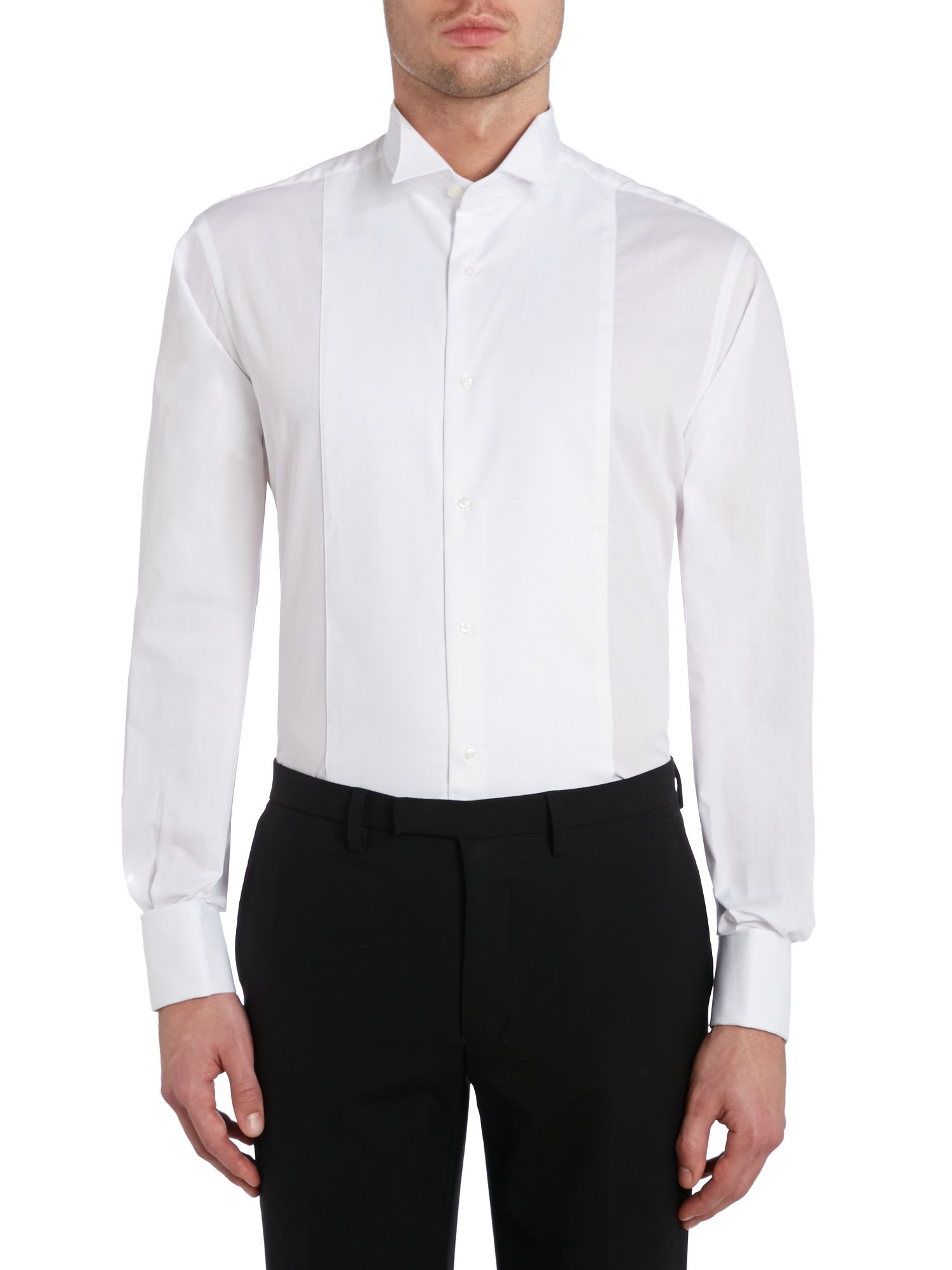 tm lewin marcella plain classic wing collar dress shirt in