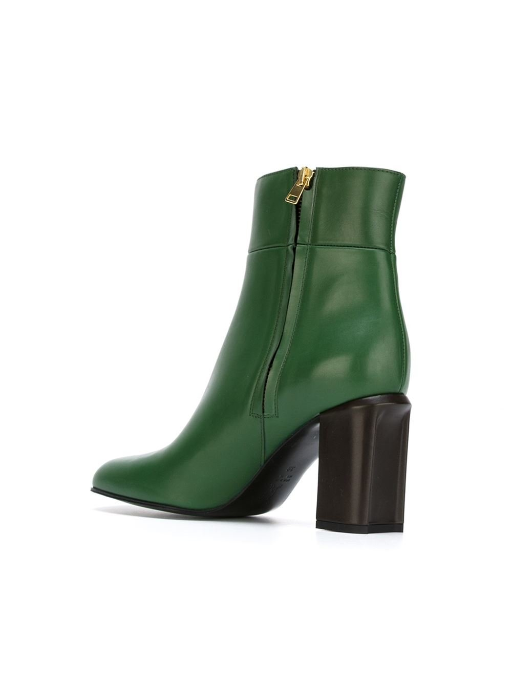 Marni Ankle Boots In Green Lyst