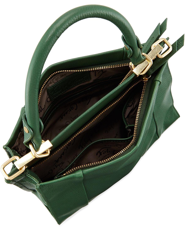 24e389a4c Foley + Corinna Dione Leather Satchel Crossbody Bag in Green - Lyst