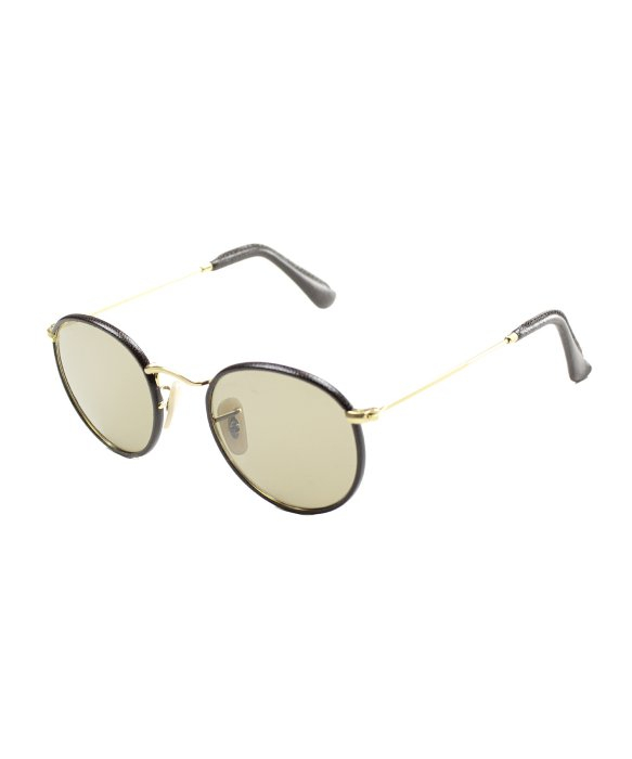 Ray ban ray ban round craft rb3475q 112 53 brown leather for Ray ban round craft