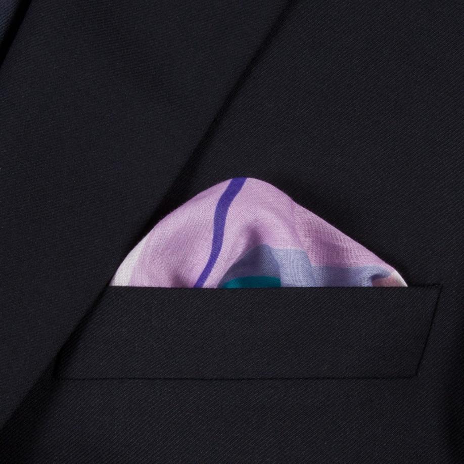 56470f8fcd1f3 Paul Smith Men's Mauve 'peace And Love' Print Large Cotton Pocket ...
