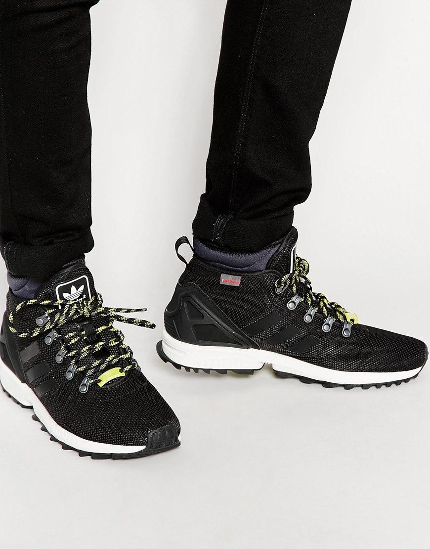 ca8bed40f Lyst - adidas Originals Zx Flux Winter Trainers S82933 in Black for Men