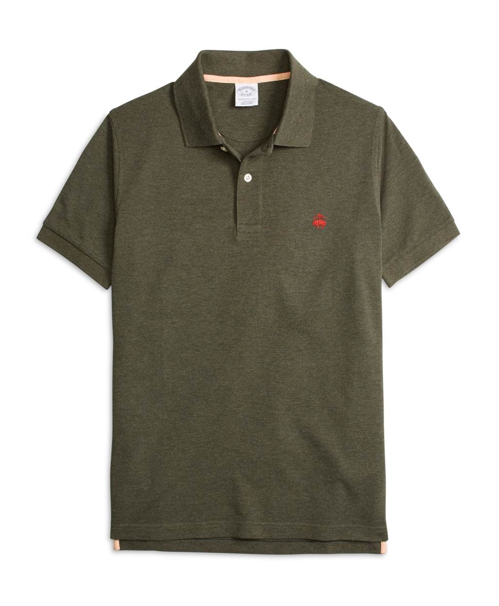Brooks brothers slim fit heathered polo shirt in green for Brooks brothers shirt size guide