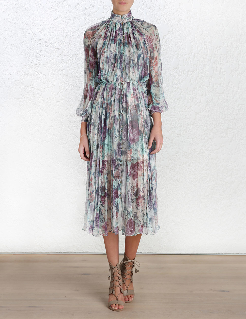 Zimmermann Rhythm Smock Dress In Purple Lyst