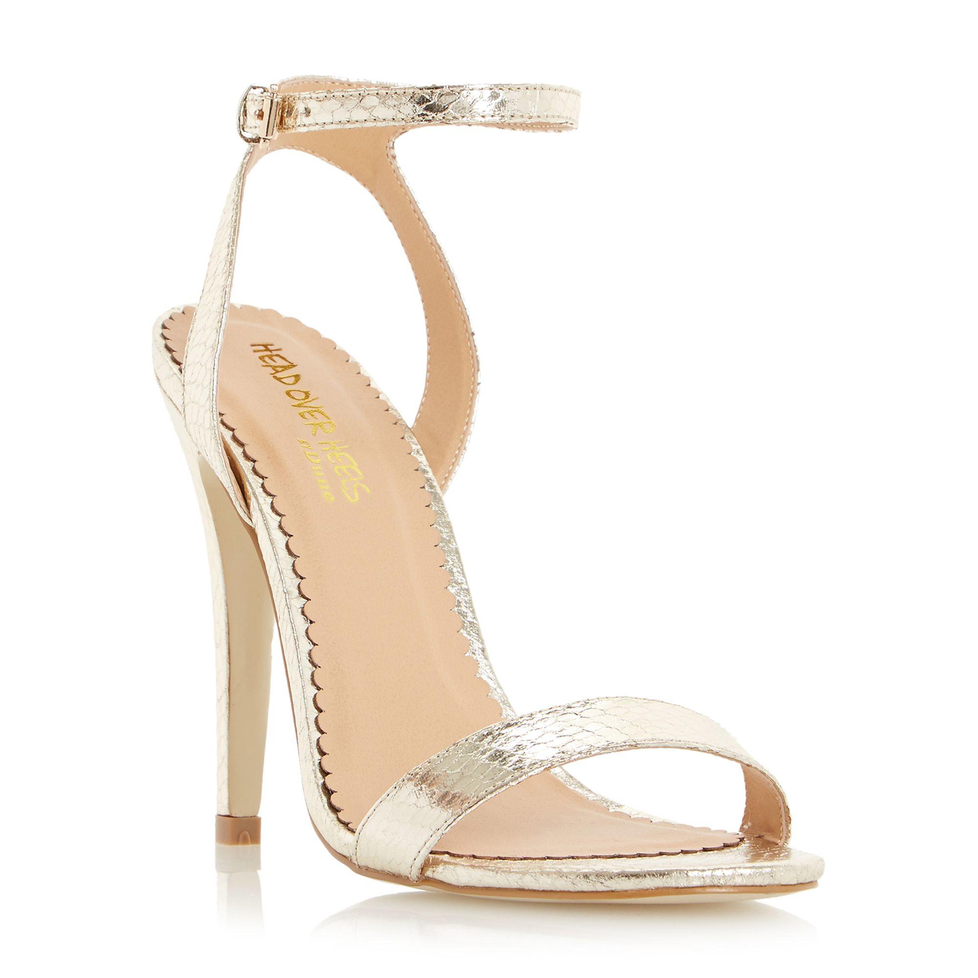 Gold Strappy Sandals Heels - Is Heel