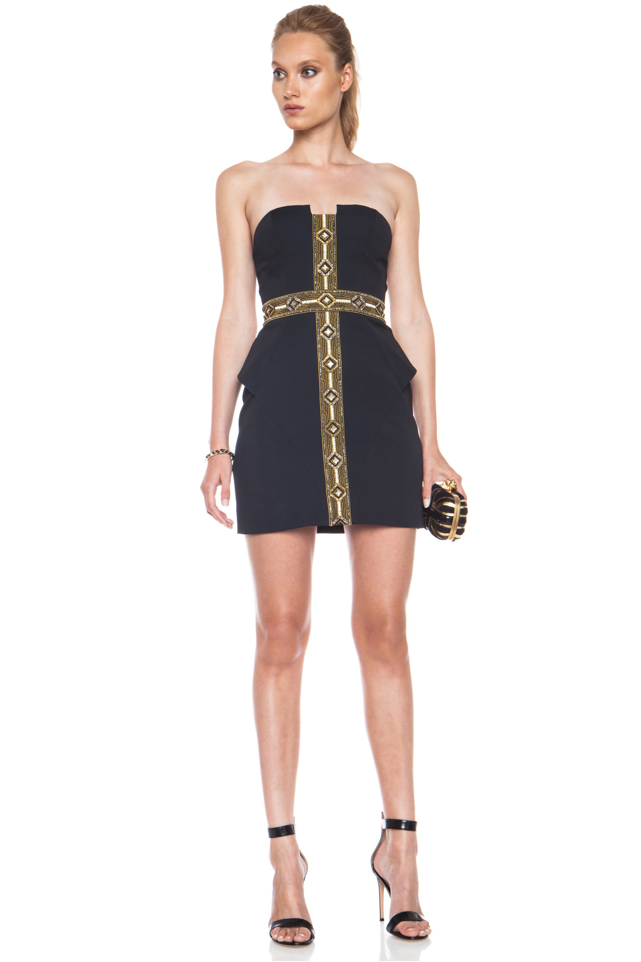 Sass Bide Synthetic Self Service Viscoseblend Dress In French Navy Blue Lyst