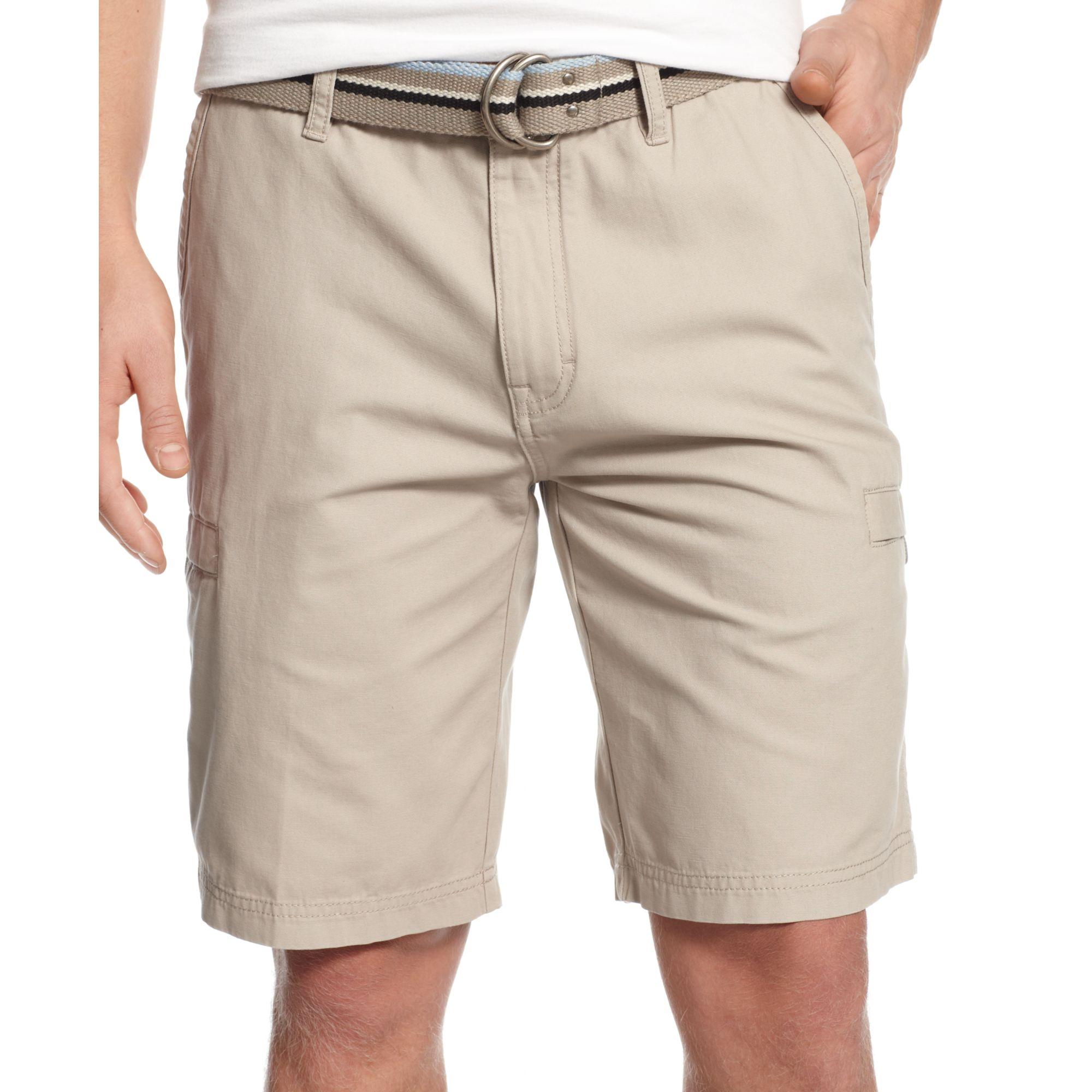 a340f28fe8 Weatherproof Vintage Canvas Belted Cargo Shorts in Natural for Men ...