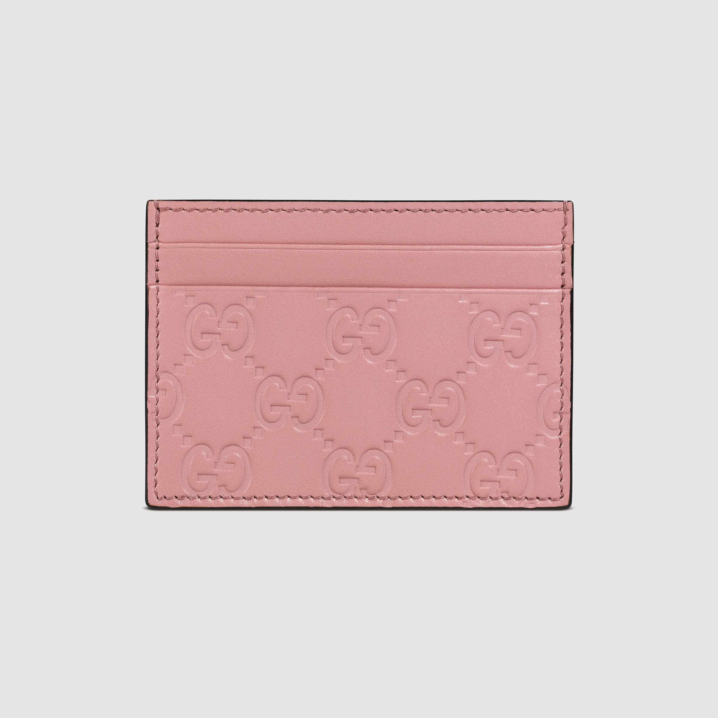 info for 8d7e7 4040f Women's Pink Signature Leather Card Case