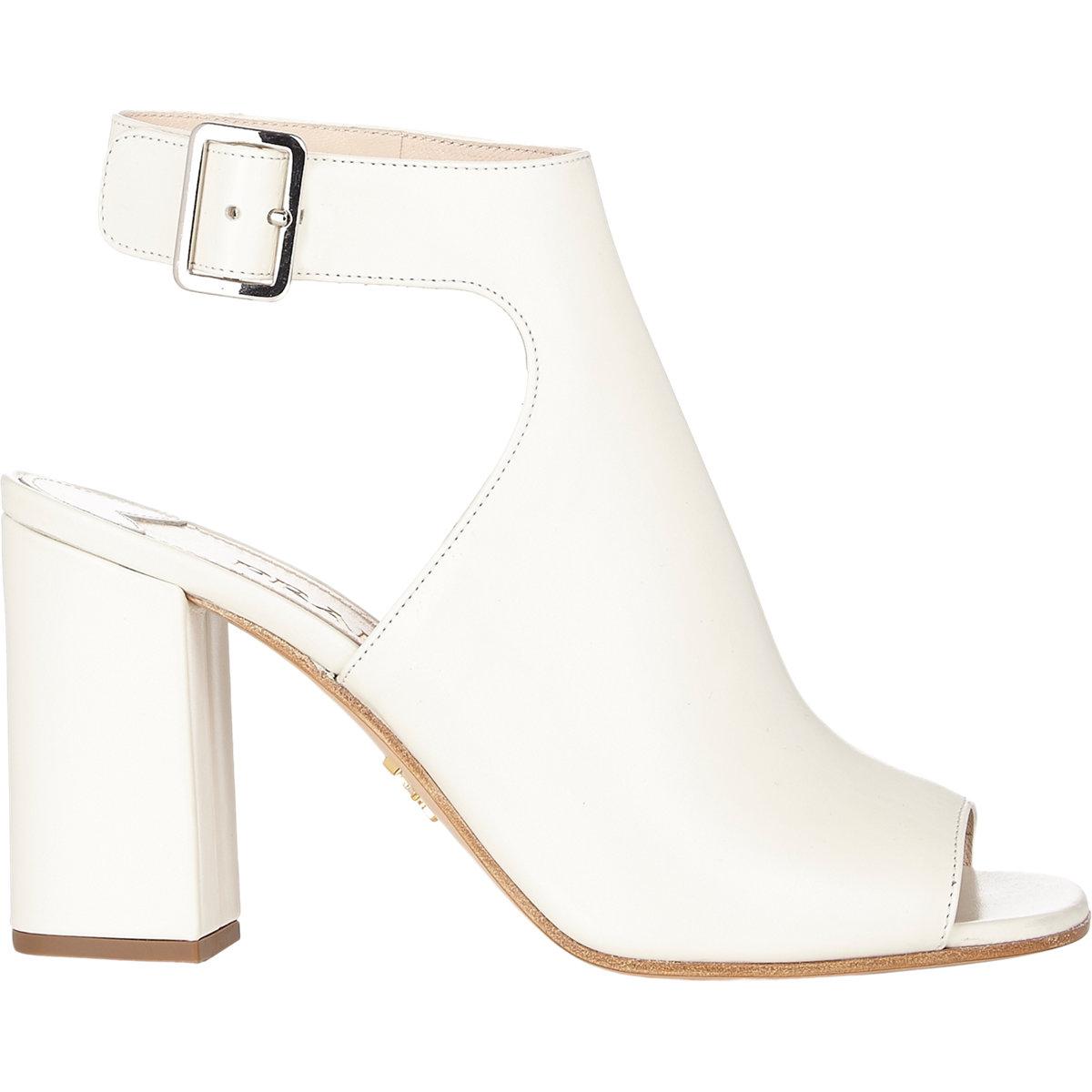 prada chunky heel halter sandals white size 6 5 in