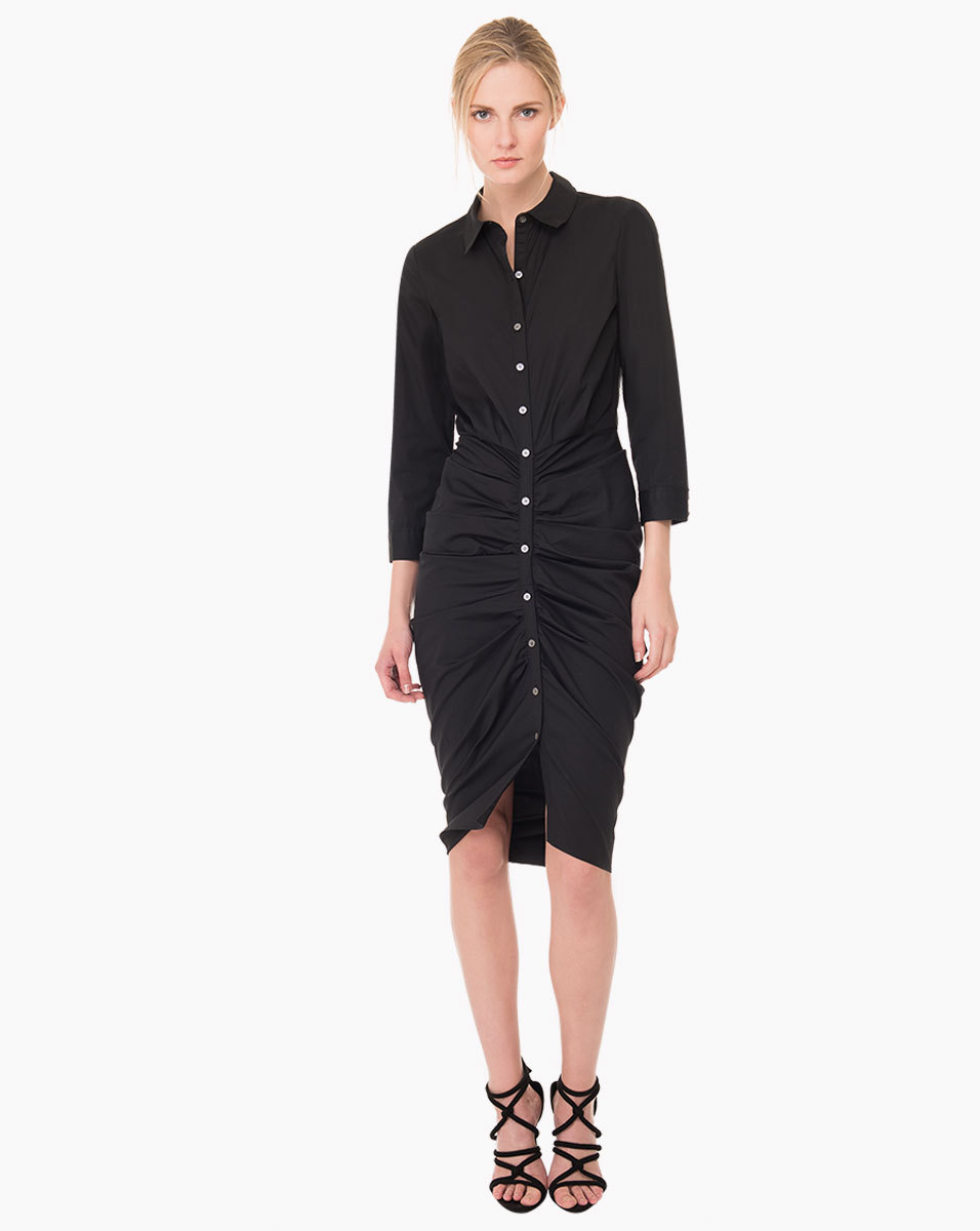 ee3adef763c Veronica Beard Capella Shirt Dress in Black - Lyst