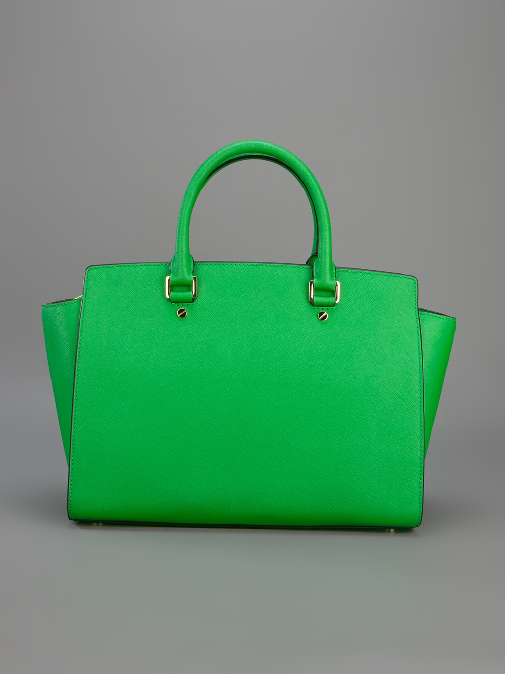 lyst michael kors selma shopper tote in green. Black Bedroom Furniture Sets. Home Design Ideas
