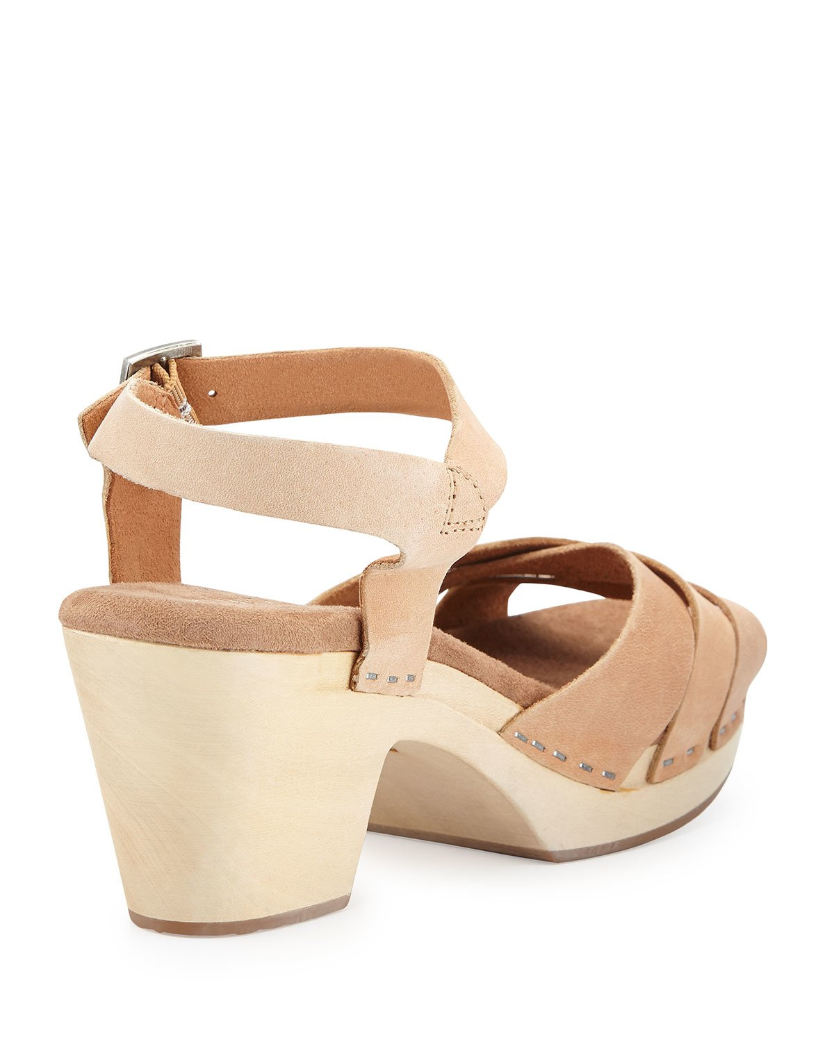 88d5a734731b0d Lyst - TOMS Beatrix Leather Clog Sandal in Brown