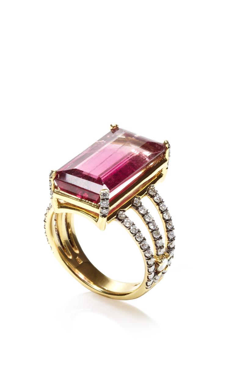 jemma wynne one of a emerald cut pink tourmaline ring