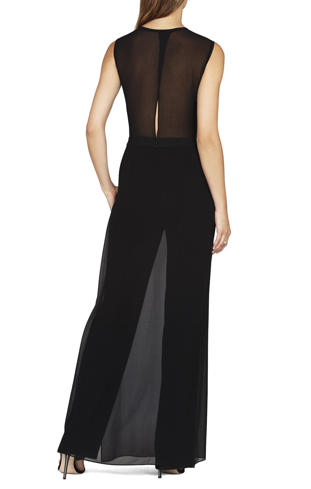 Bcbgmaxazria Lindee Snake Sequin Chiffon Skirt Jumpsuit In
