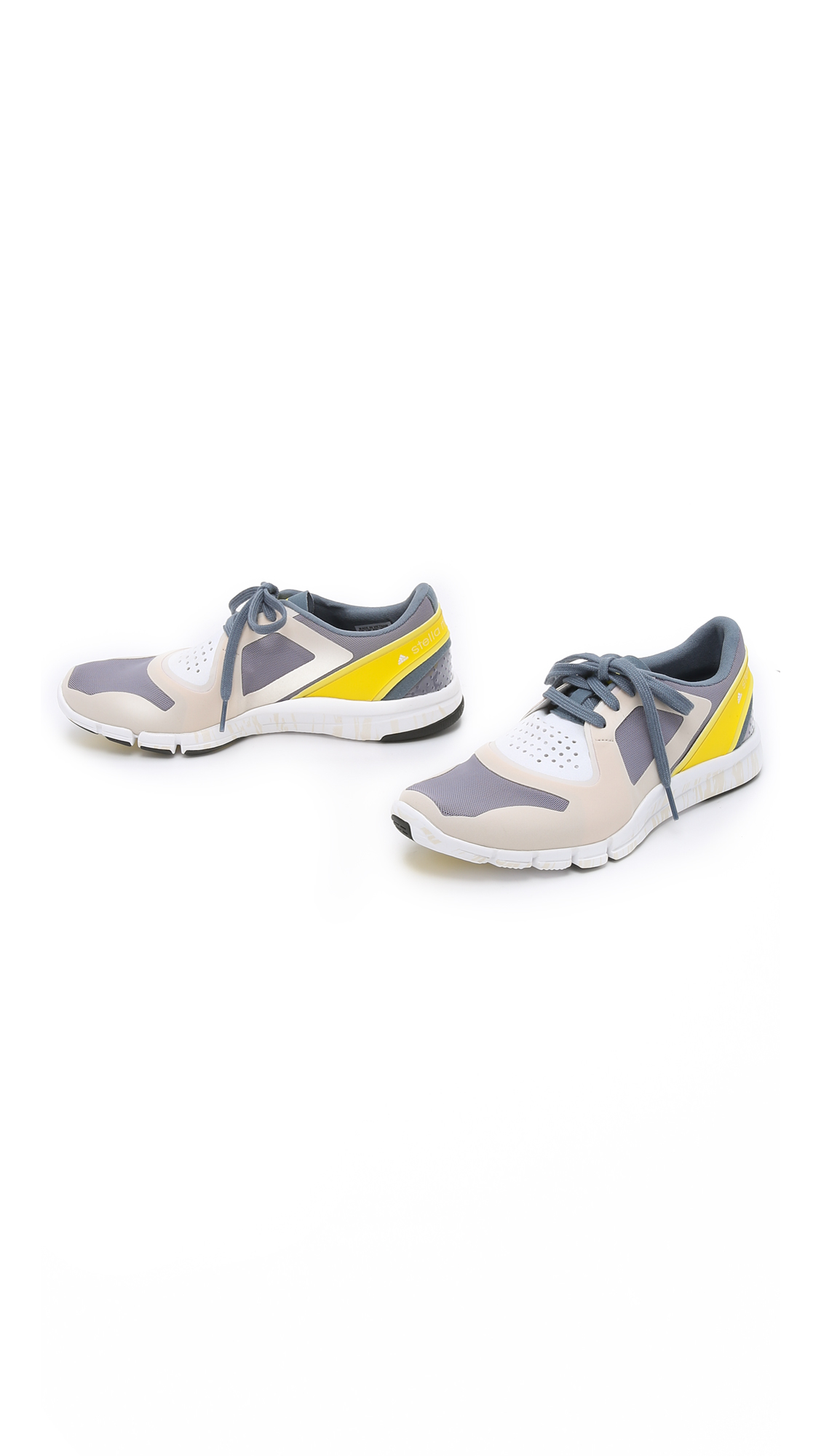 adidas by stella mccartney alayta sneakers antique white blue grey yellow in multicolor. Black Bedroom Furniture Sets. Home Design Ideas