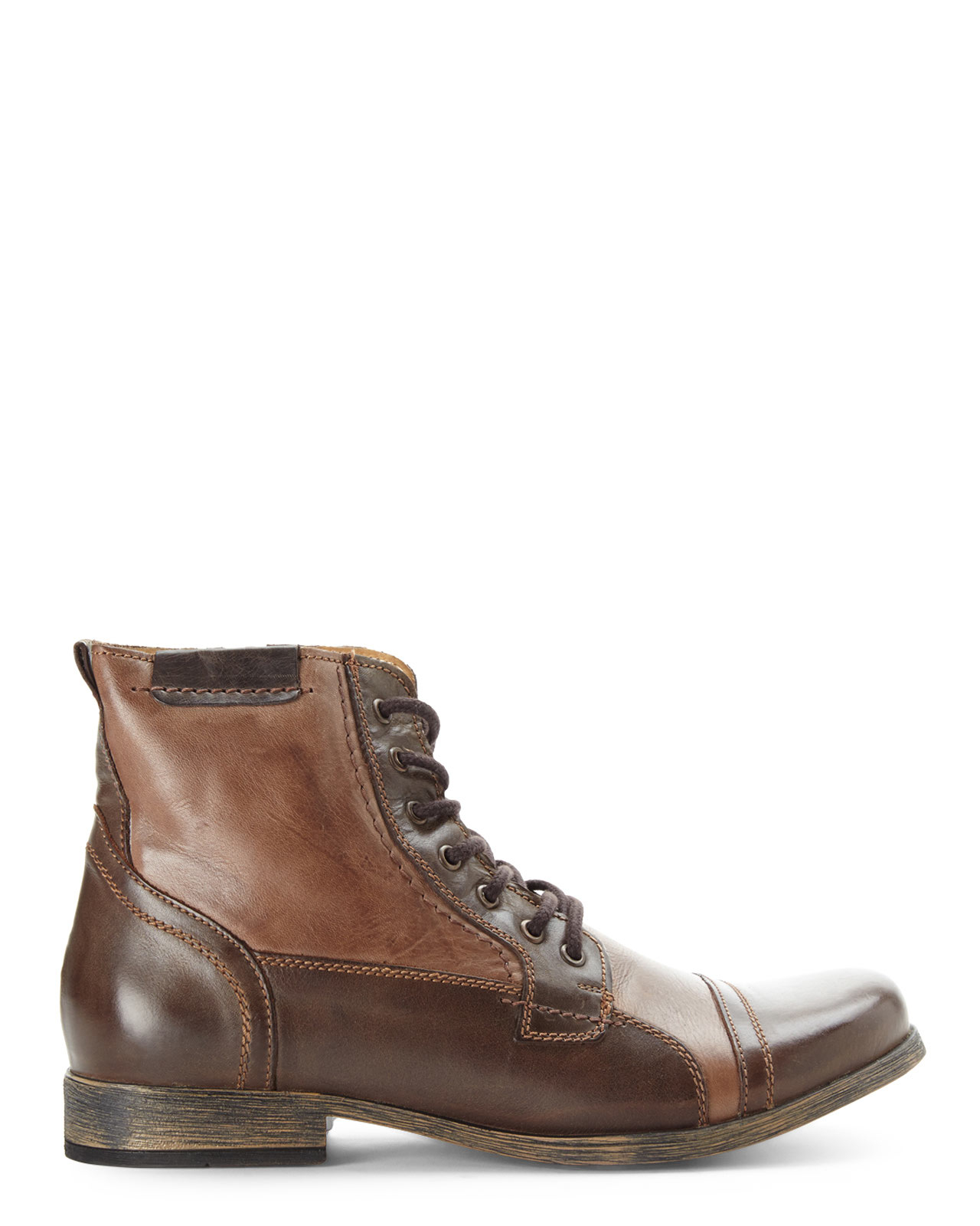 steve madden brown triggah cap toe boots in brown for
