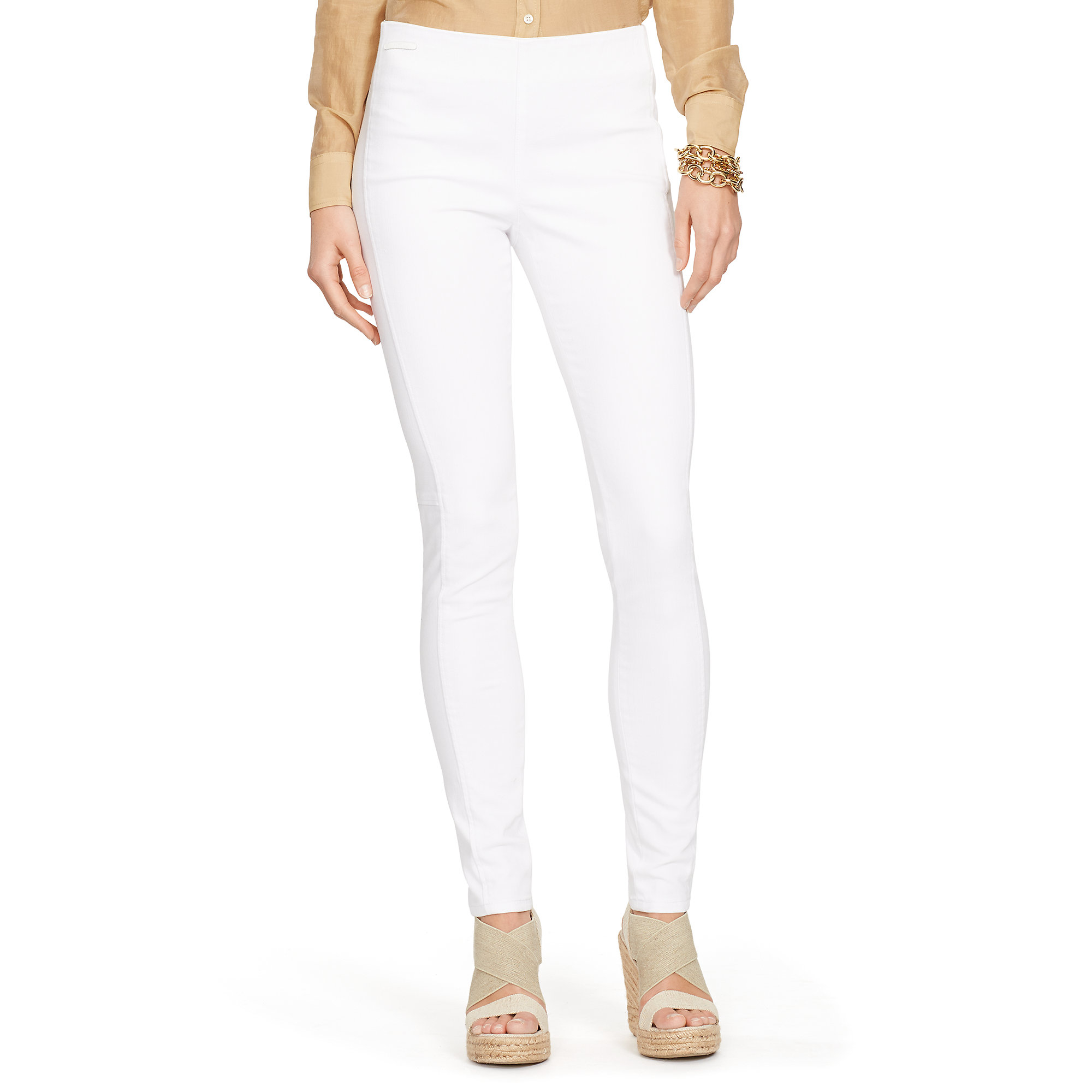 Ralph lauren Stretch Legging Jean in White | Lyst