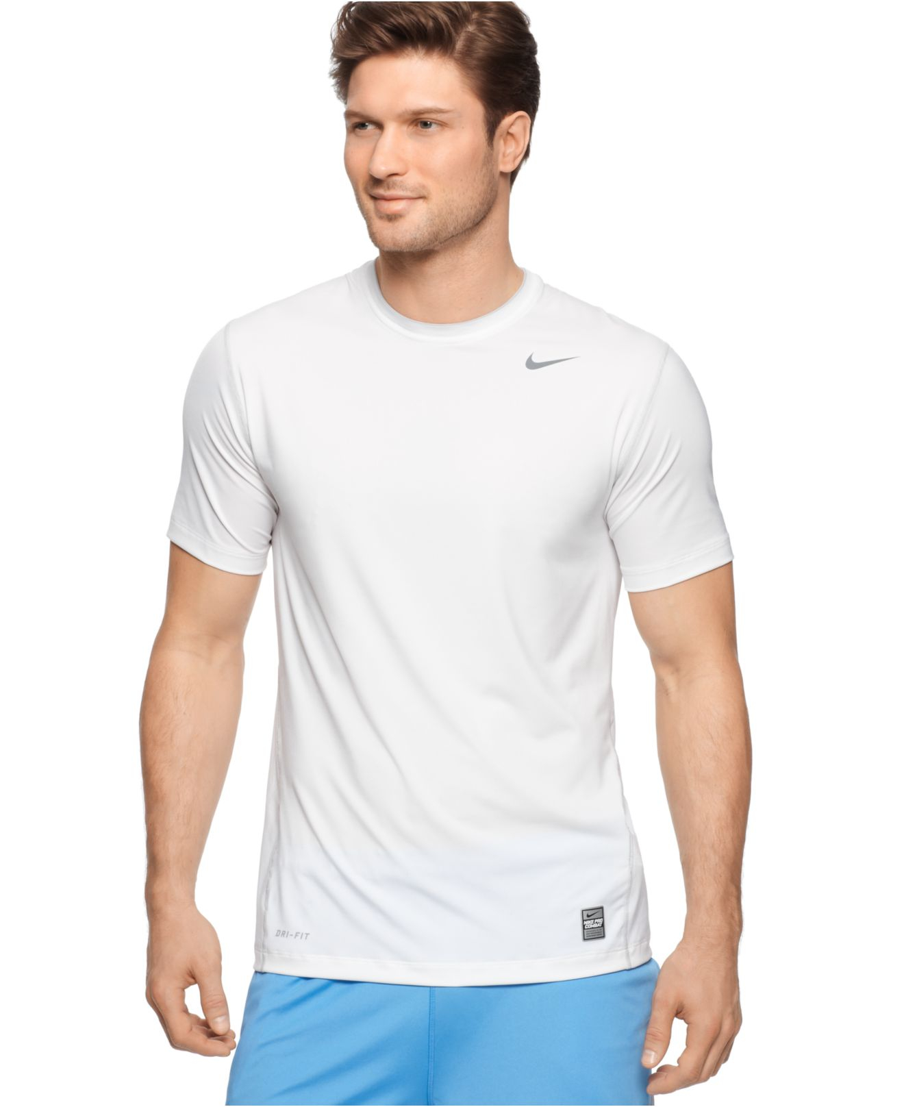 Lyst Nike Pro Combat Dri Fit T Shirts In White For Men
