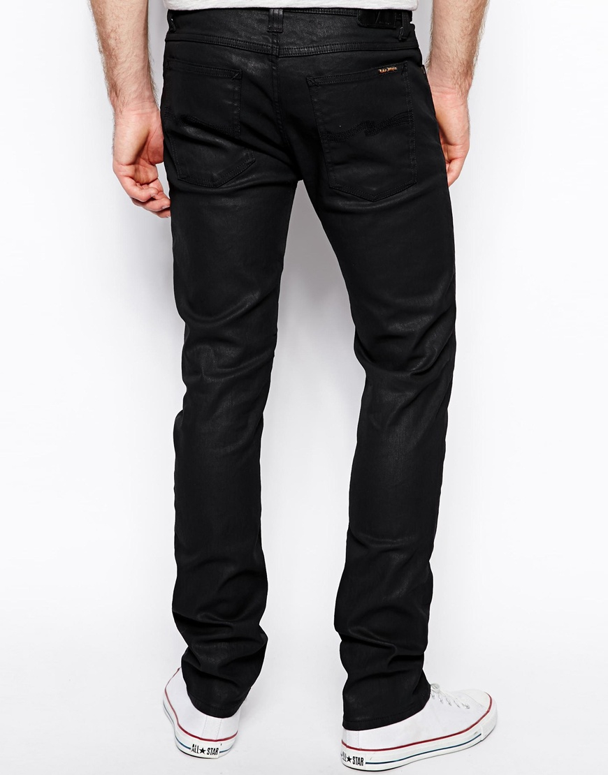 Nudie Jeans Tube Tom Skinny Fit Back In Black Coated For -1006
