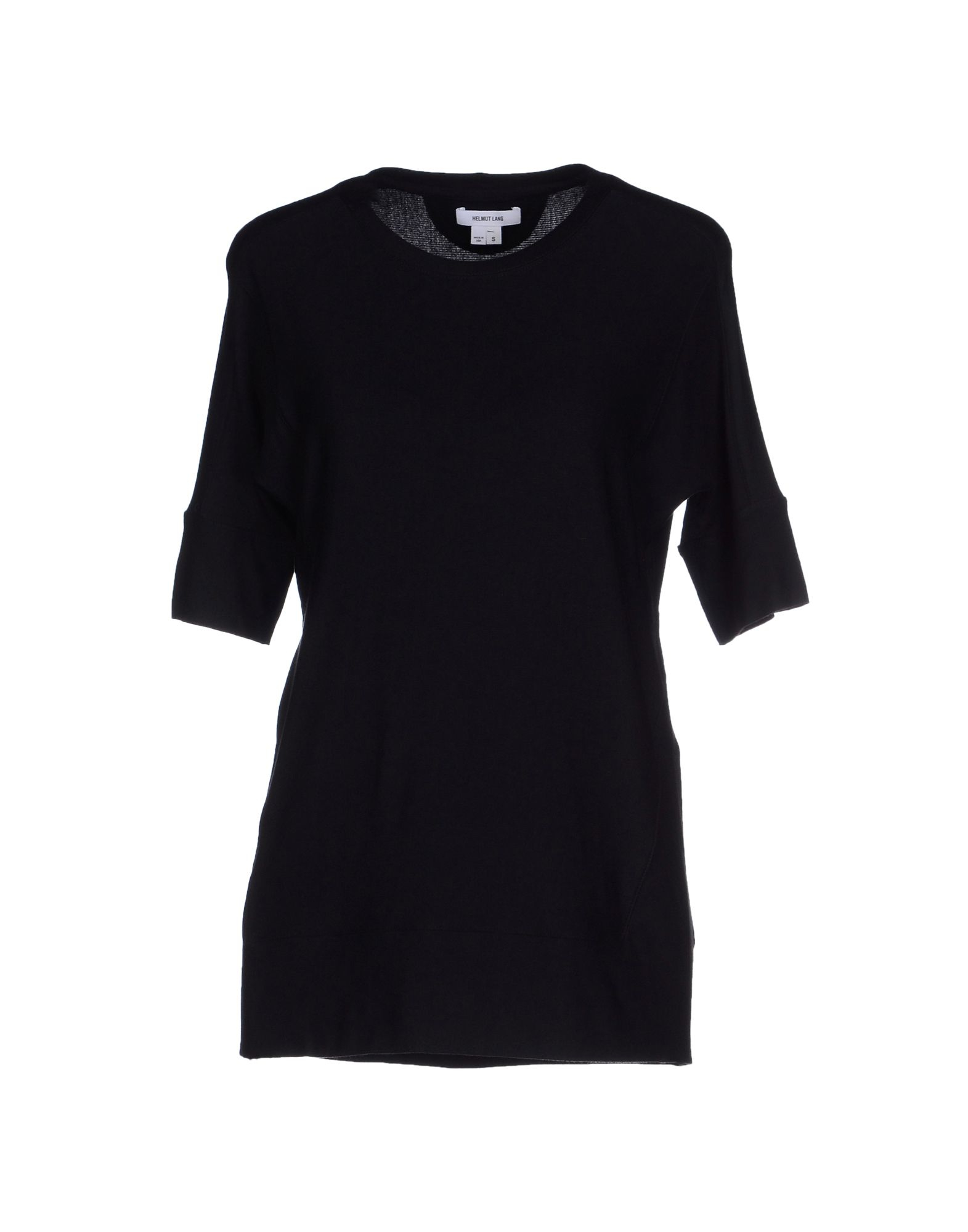 Helmut lang sweatshirt in black lyst for Sweatshirt kleid lang